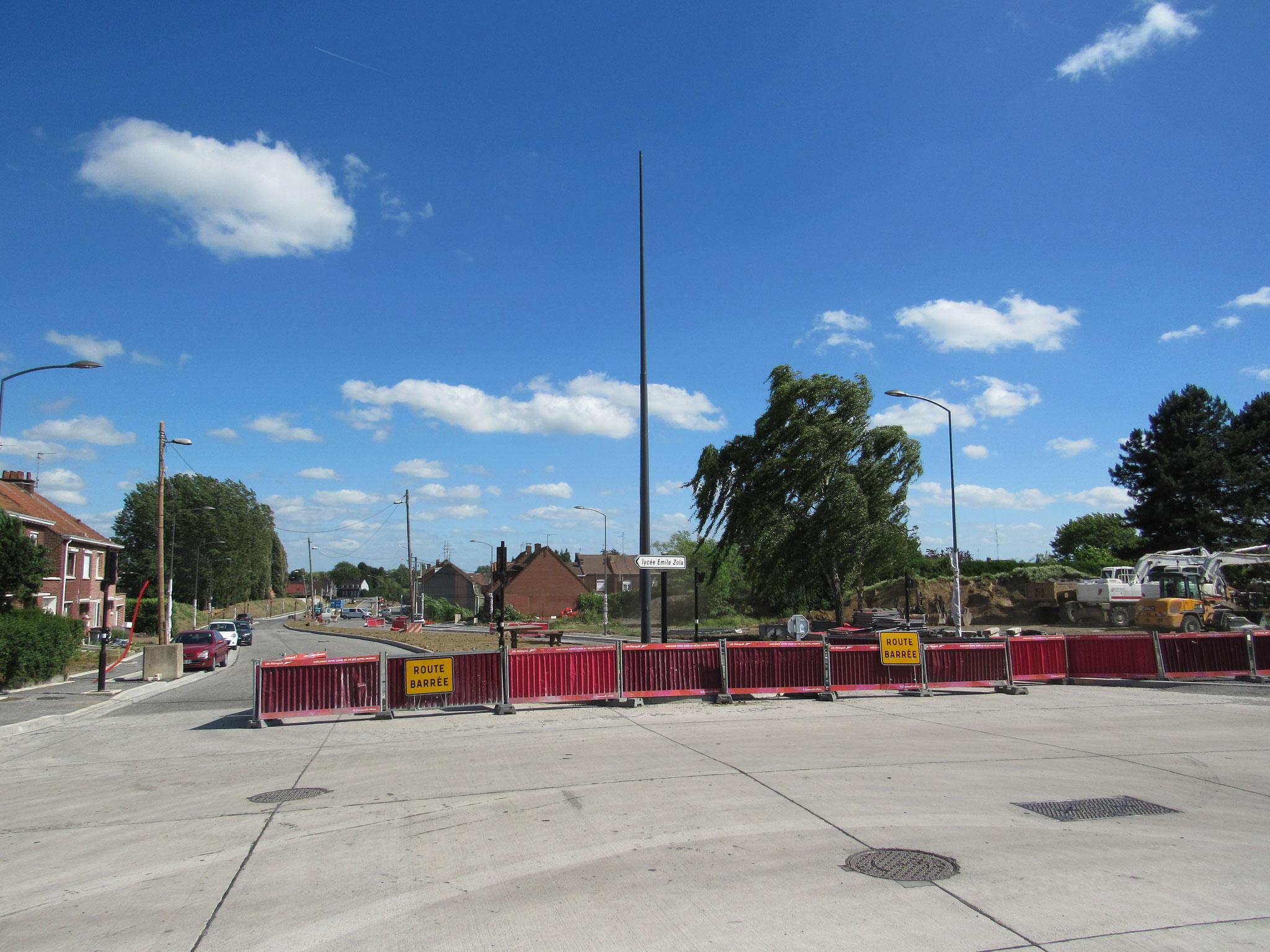 La deuxième partie de la rue Vallon encore en travaux