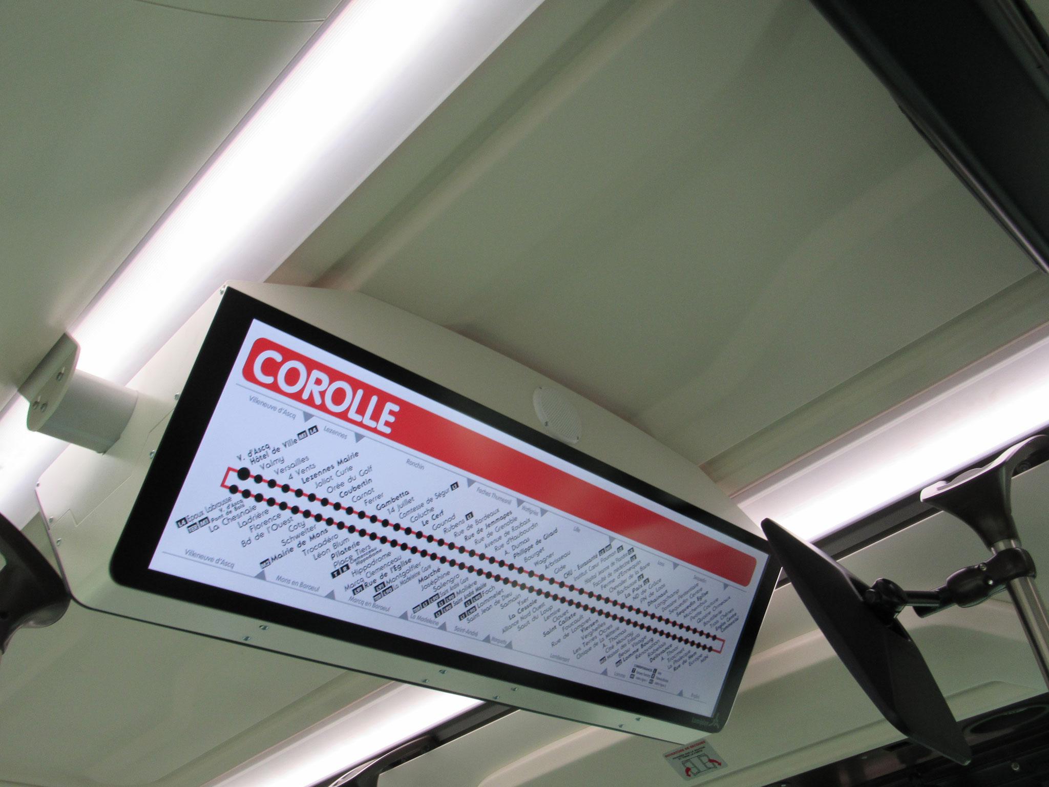 Écran Lumiplan présent dans le bus 10413