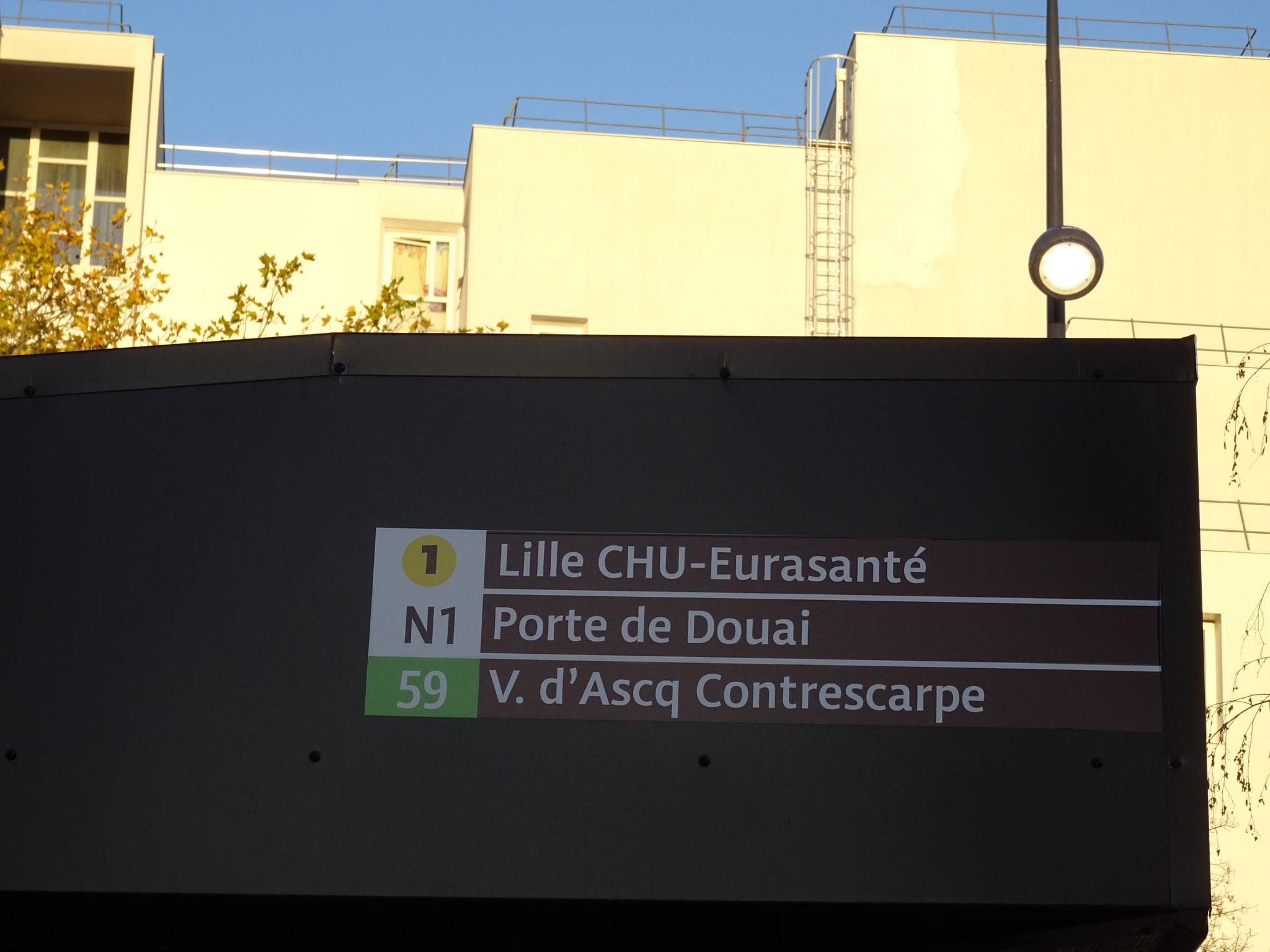 Arrêt des lignes N1 vers Lille et 59.