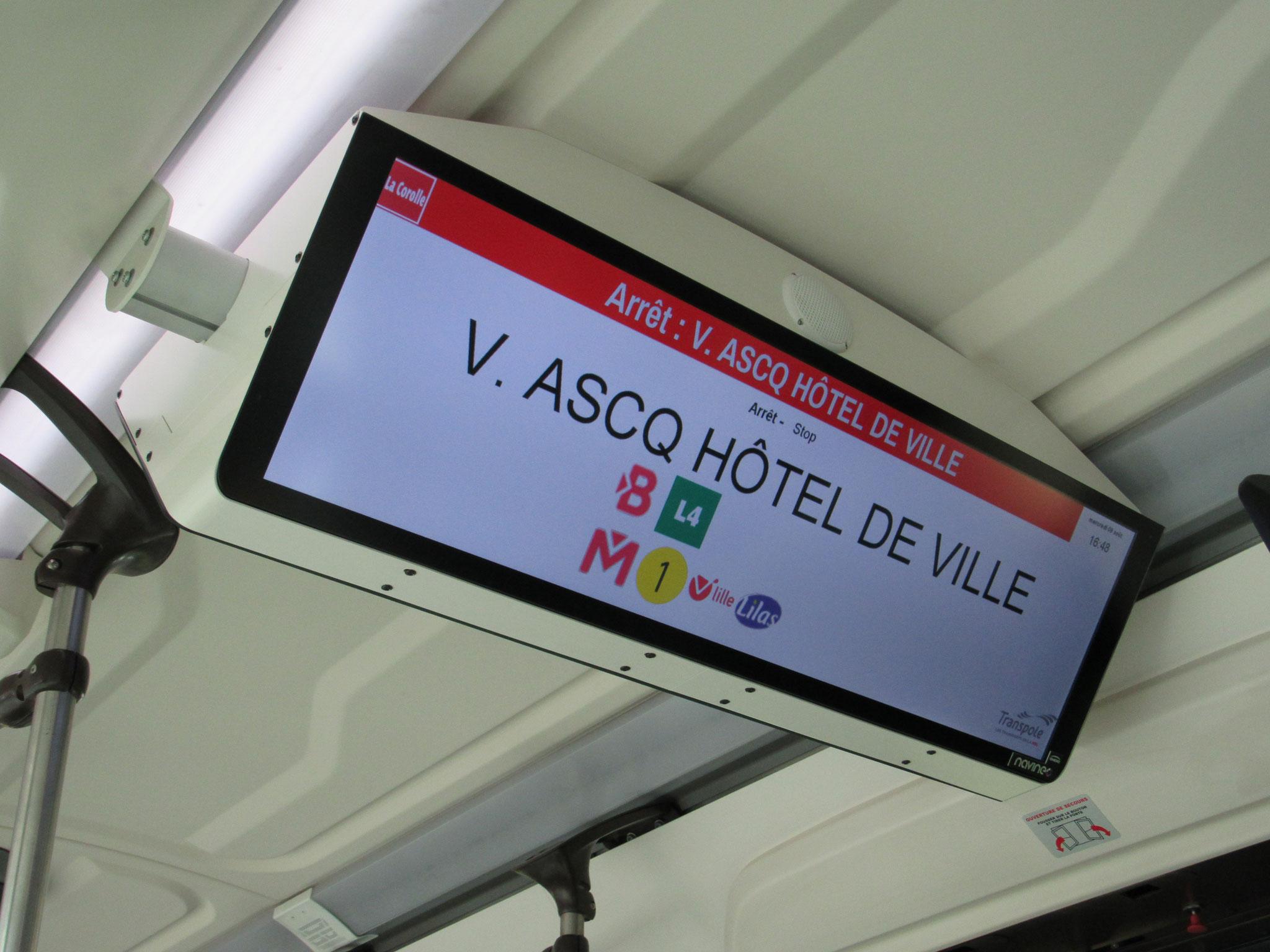Écran Ineo (NavIneo) présent dans le bus 10415