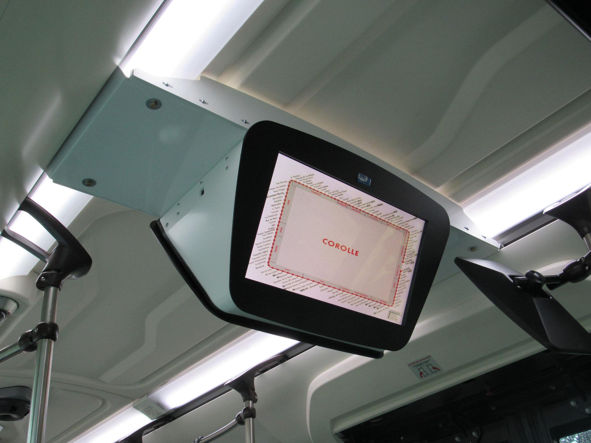 Écran SPEC présent dans le bus 10418