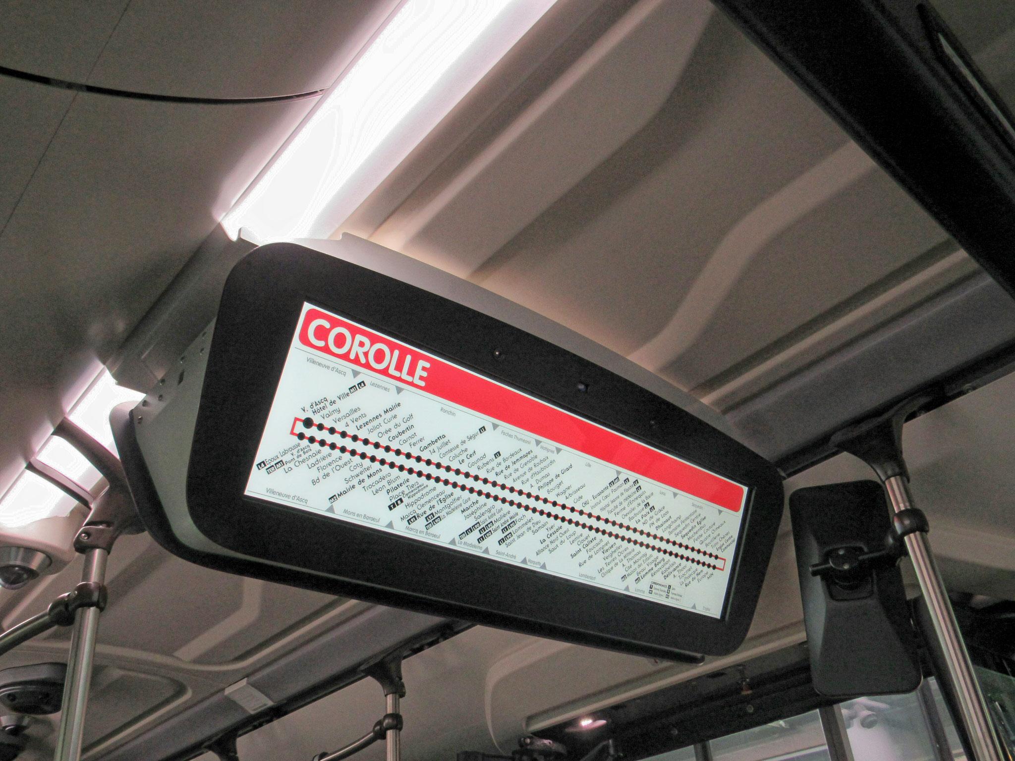 Écran SPEC présent dans le bus 10419