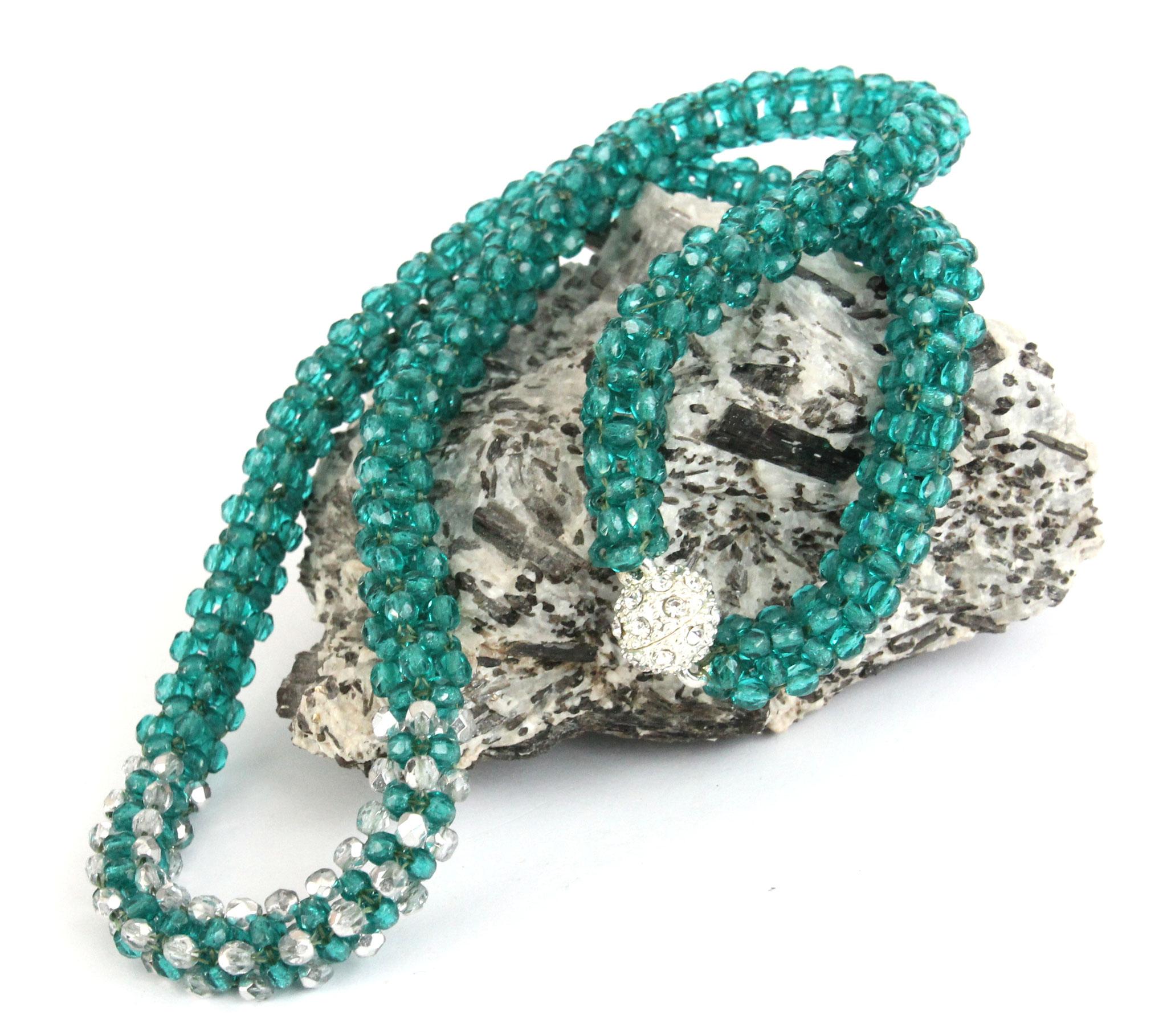 "Halskette ""Emerald Stars"""