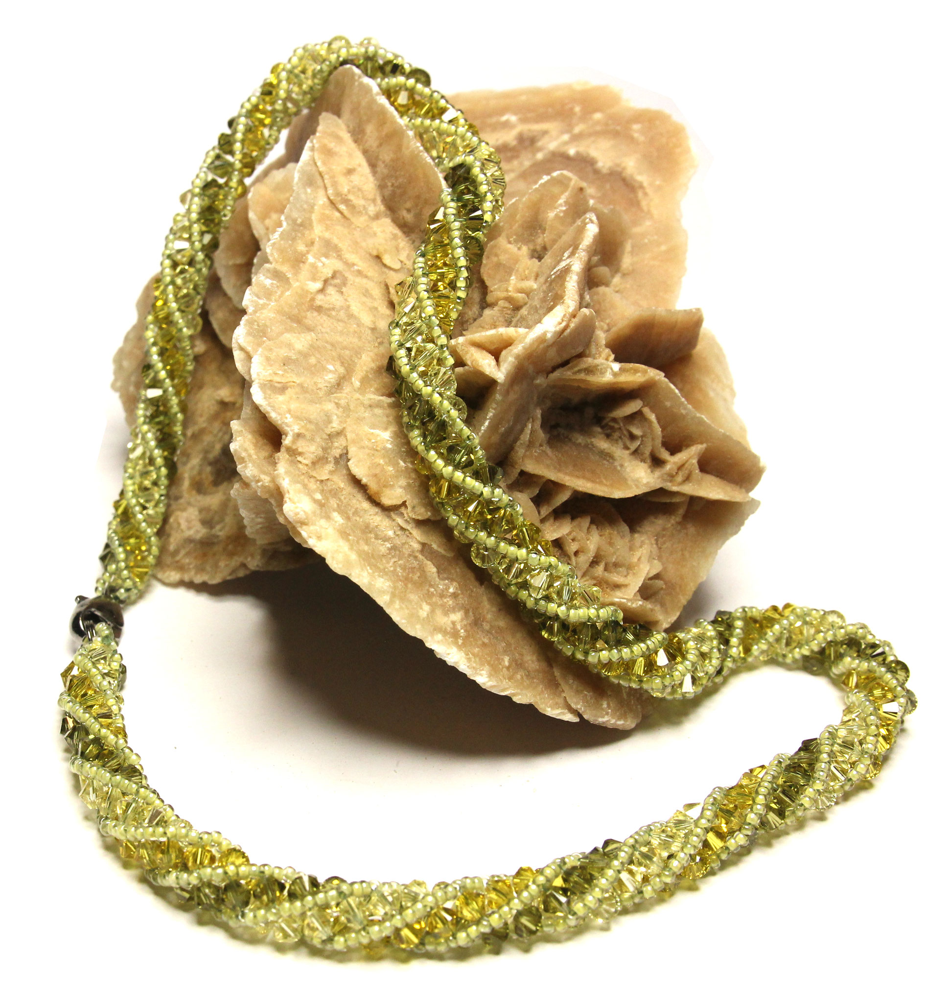 "Collier ""Olive Crystal"""