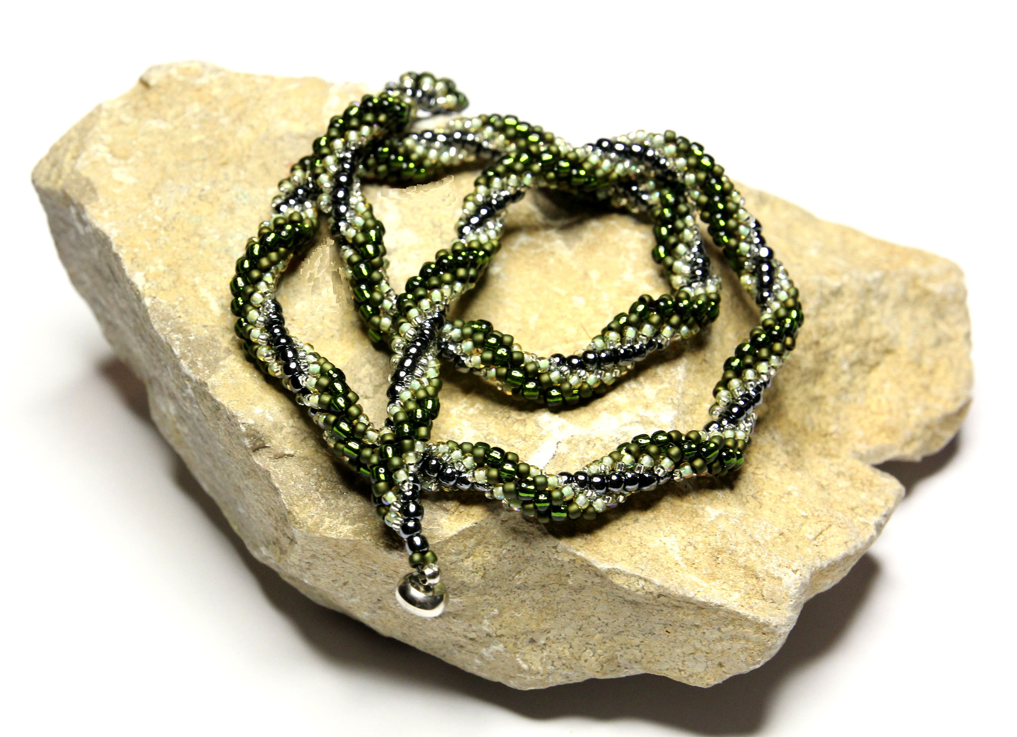 "Halskette ""Green Snake"""