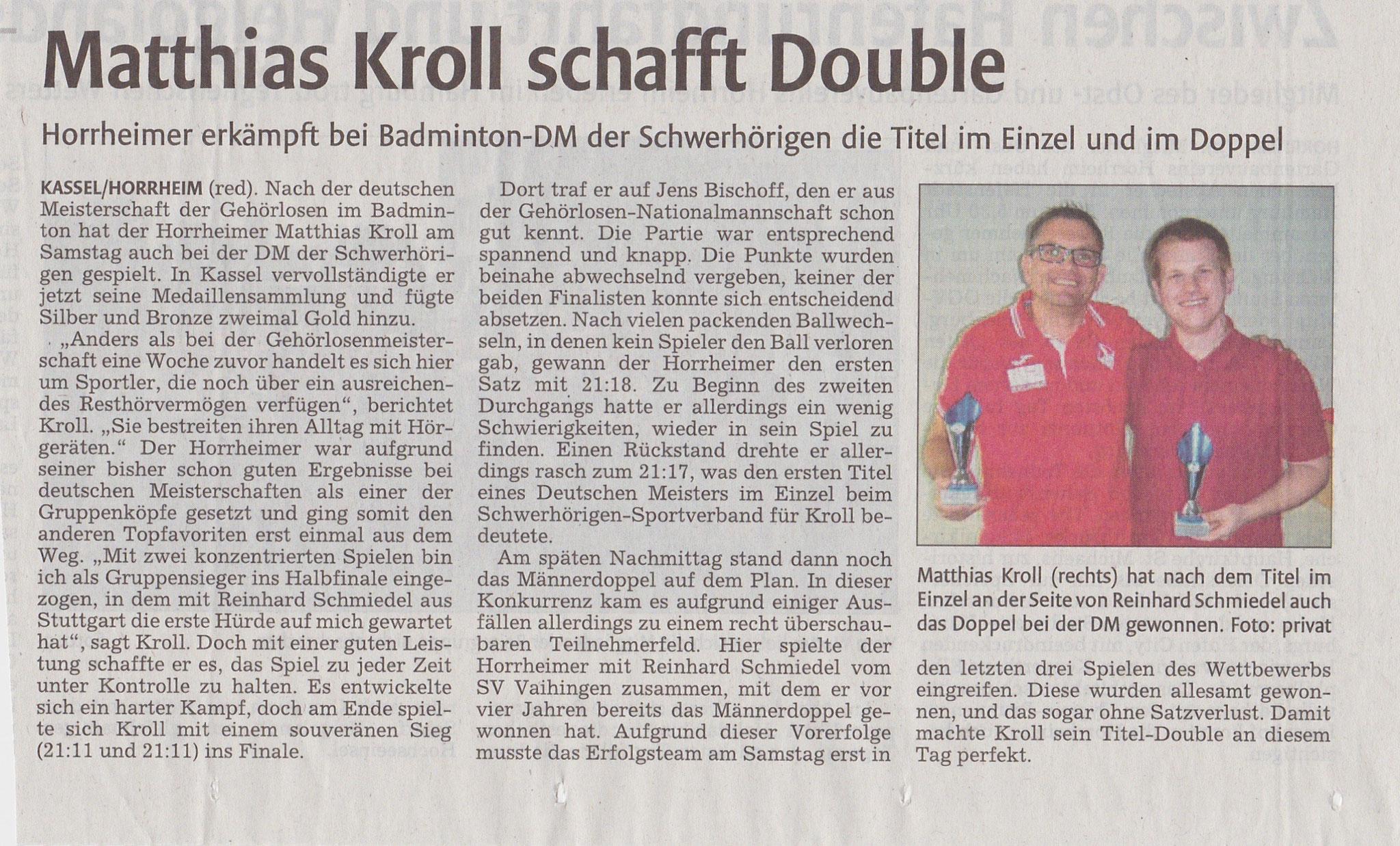 Bericht vkz DM DSSV Kassel