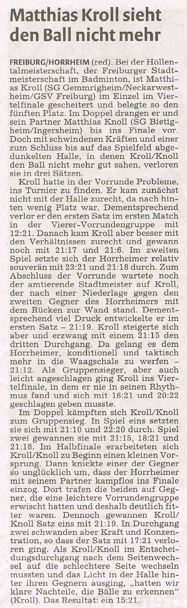 Bericht vkz zur Höllentalmeisterschaft