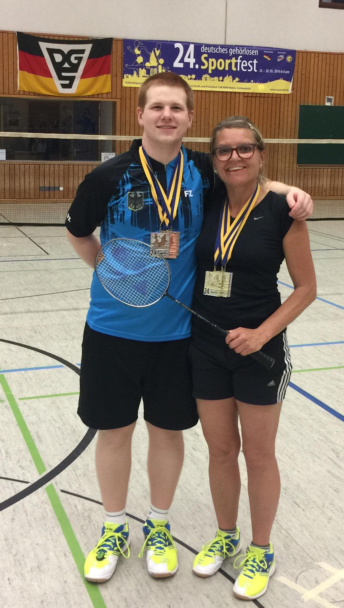 Mixed-Doppel Matthias und Helga