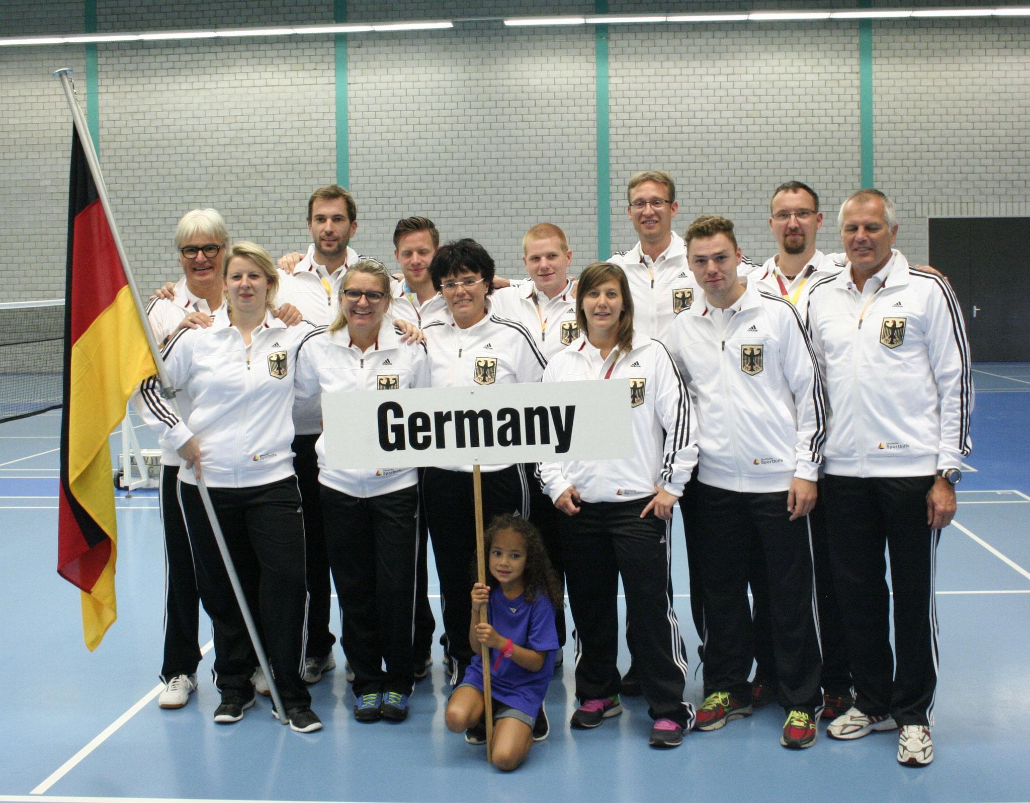 Das Deutsche Team vor der Eröffnungszeremonie