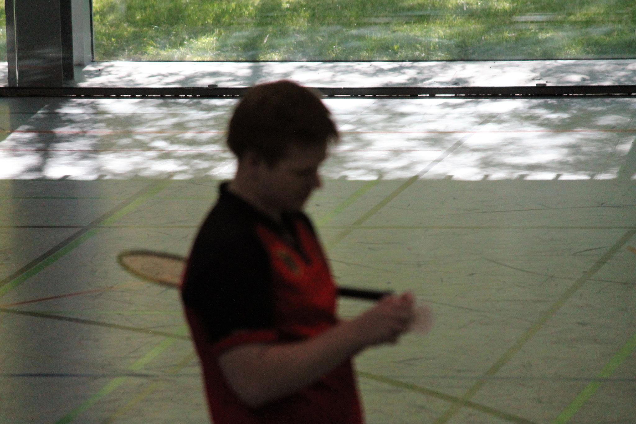 Matthias Kroll vor dem Spiel