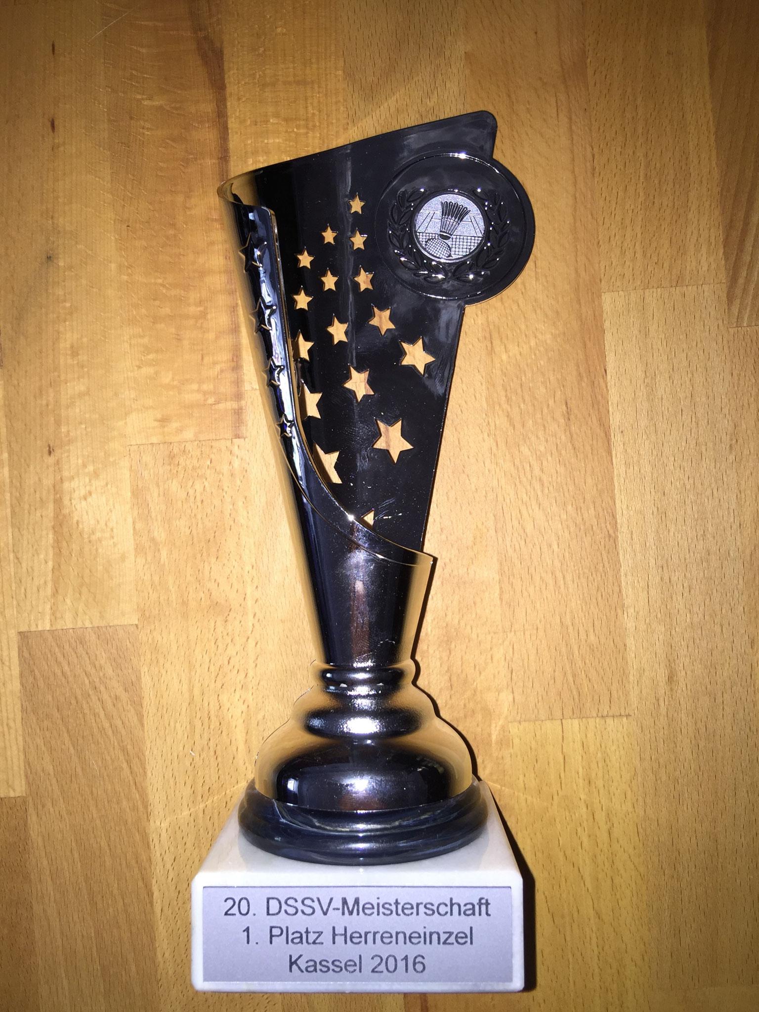 Pokal Herreneinzel 1. Platz