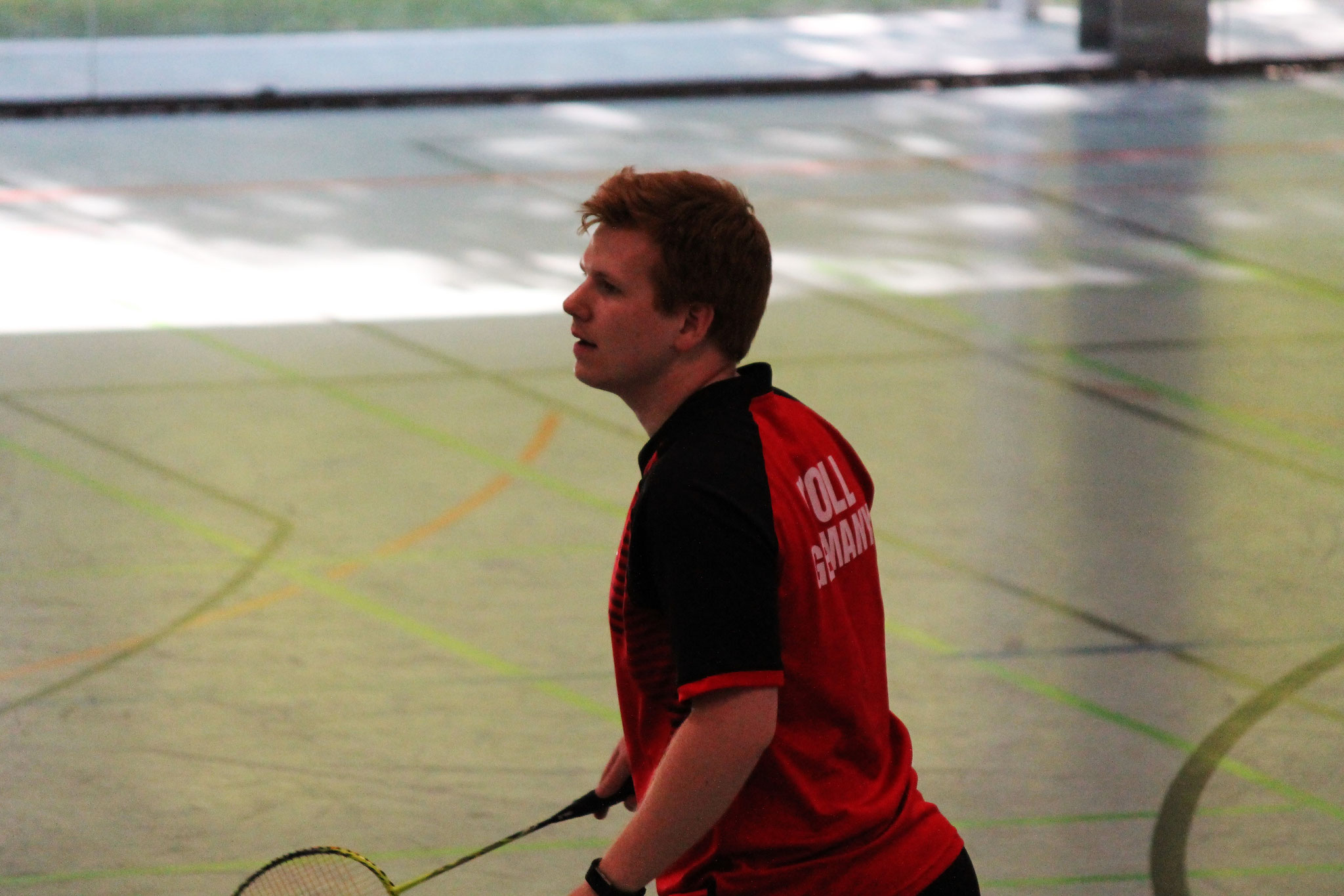 Matthias Kroll hochkonzentriert