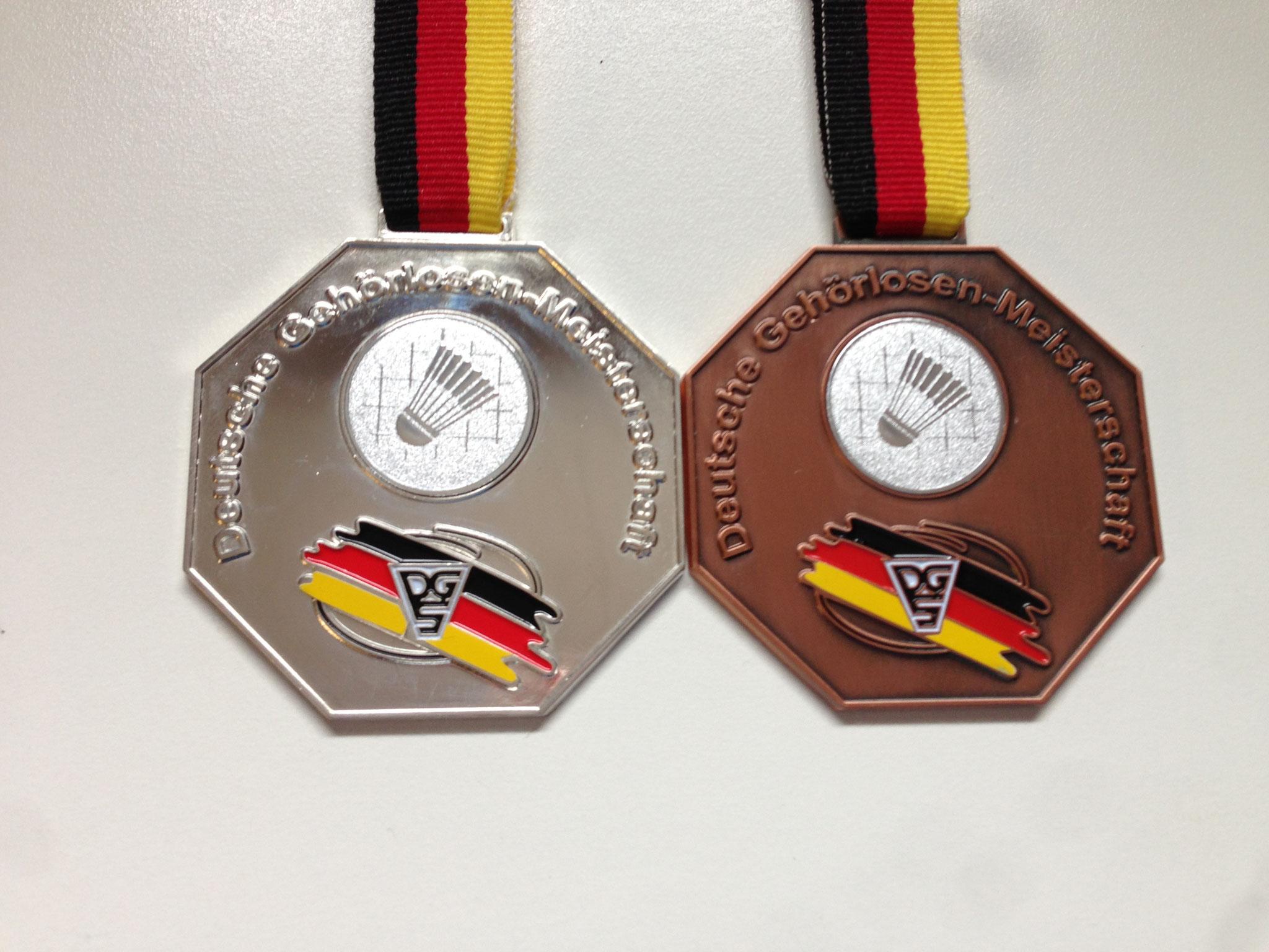 Medaillen DM Mainz 2013 Silber Herrendoppel Bronze Herreneinzel