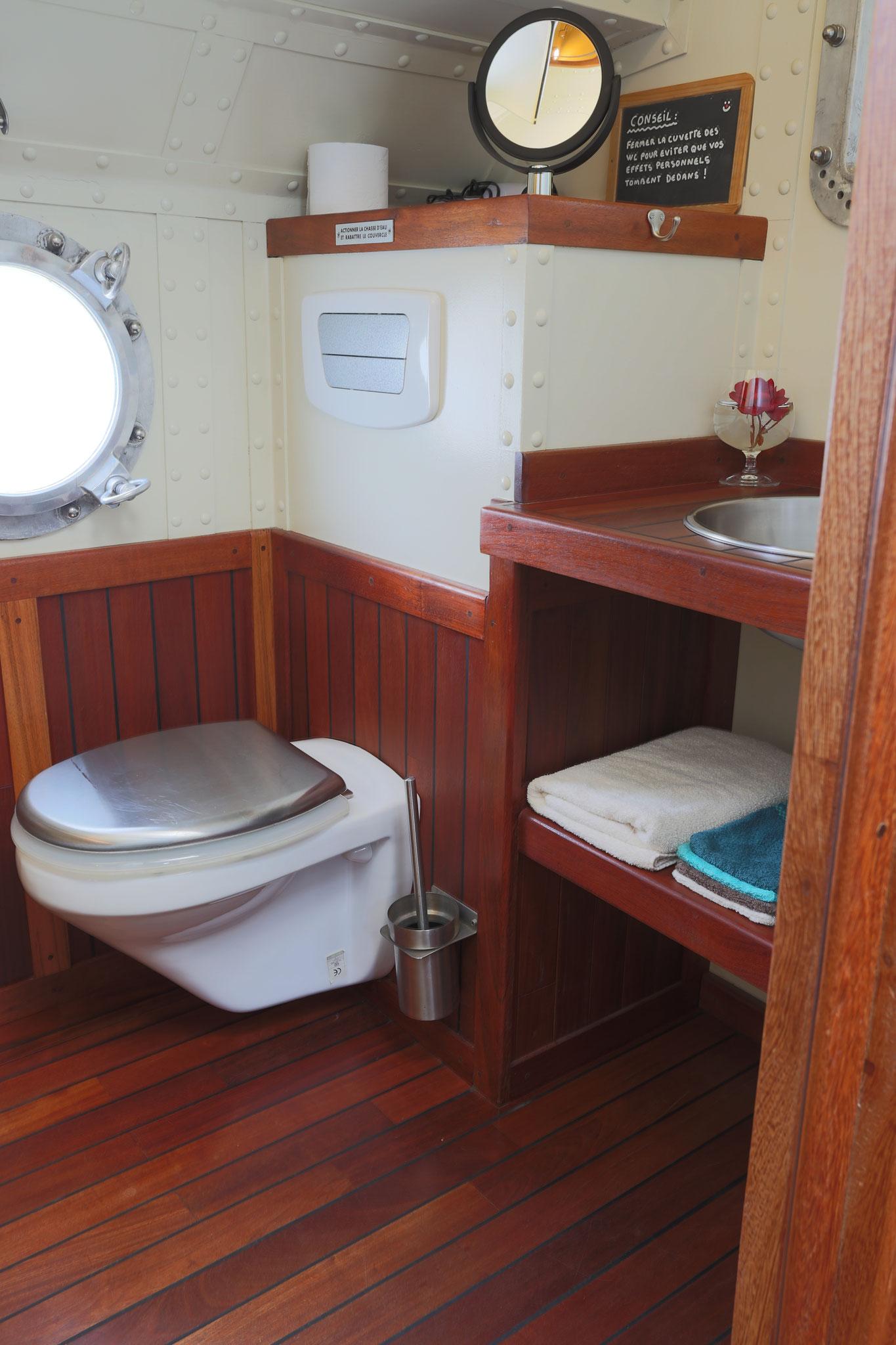 Cabinet de toilette avec douche