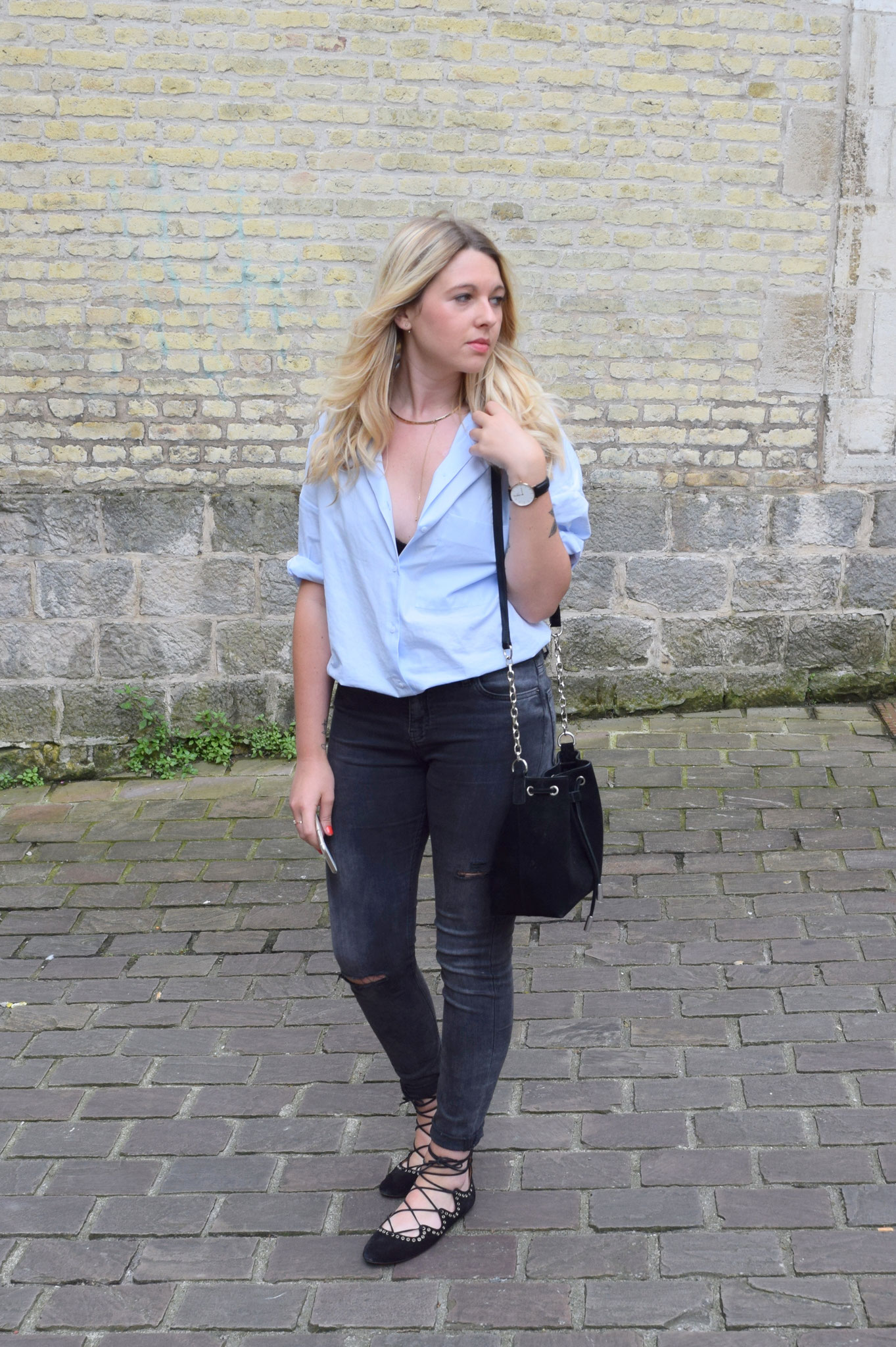 BLUE SHIRT ZARA
