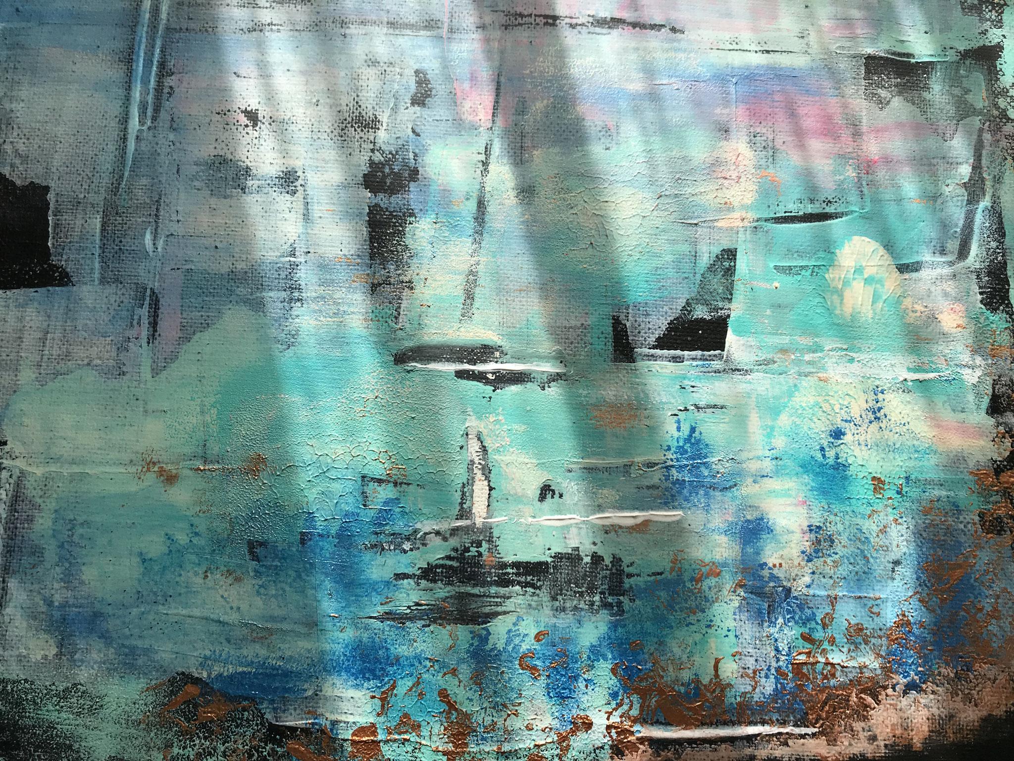 Sailing, mixed media auf Leinwand