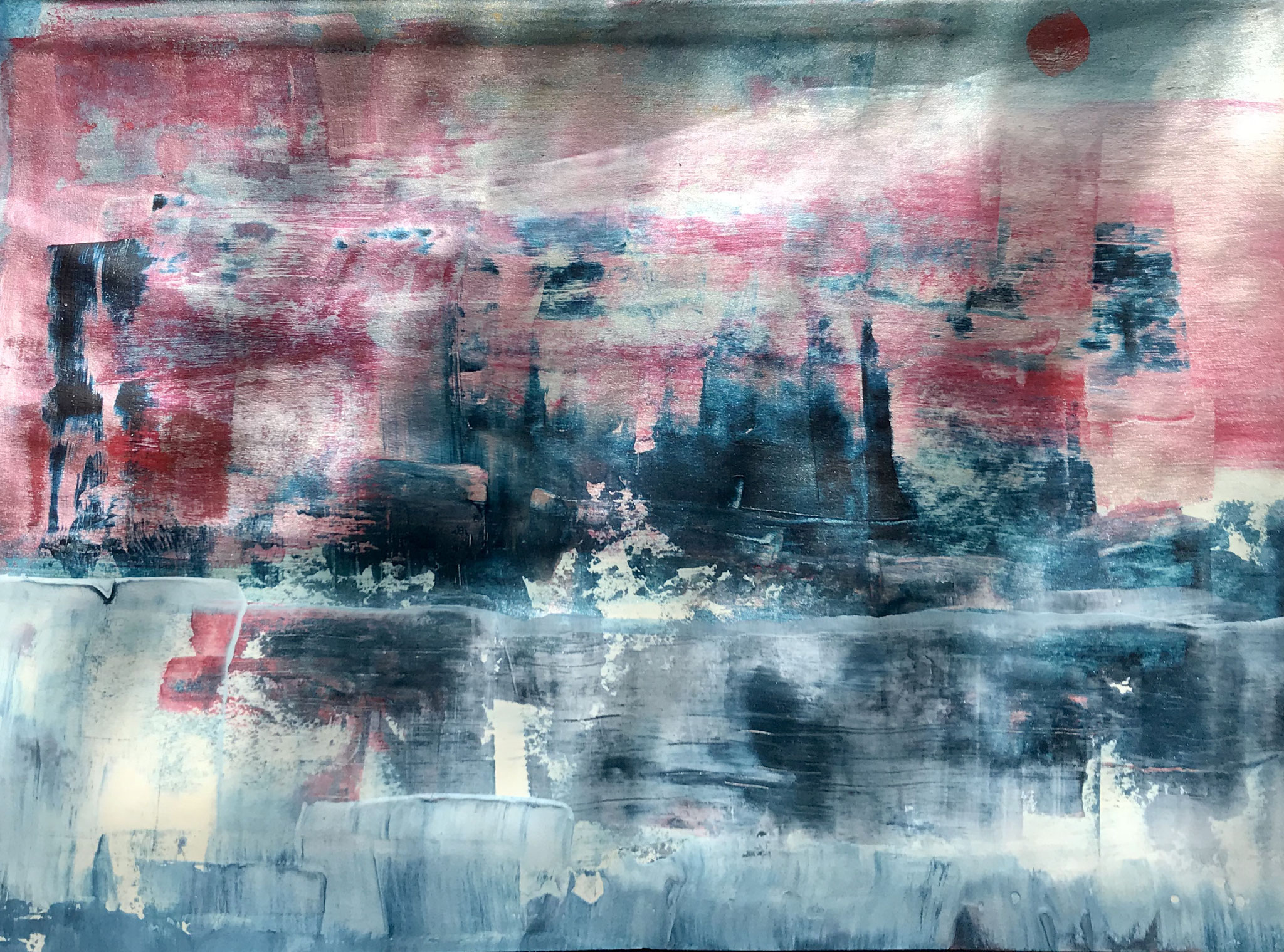 Wintersonnenwende, mixed media