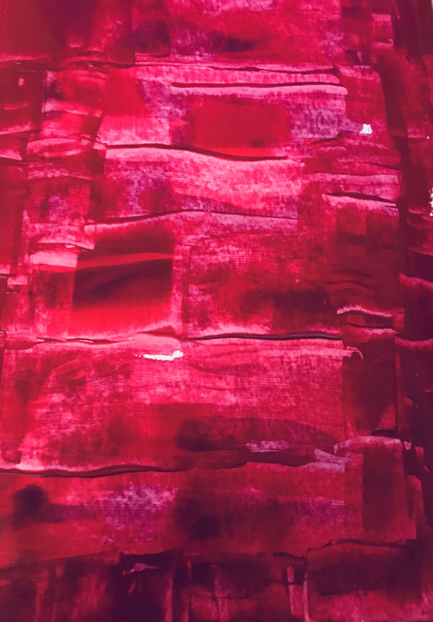Rot, Acryl auf Papier