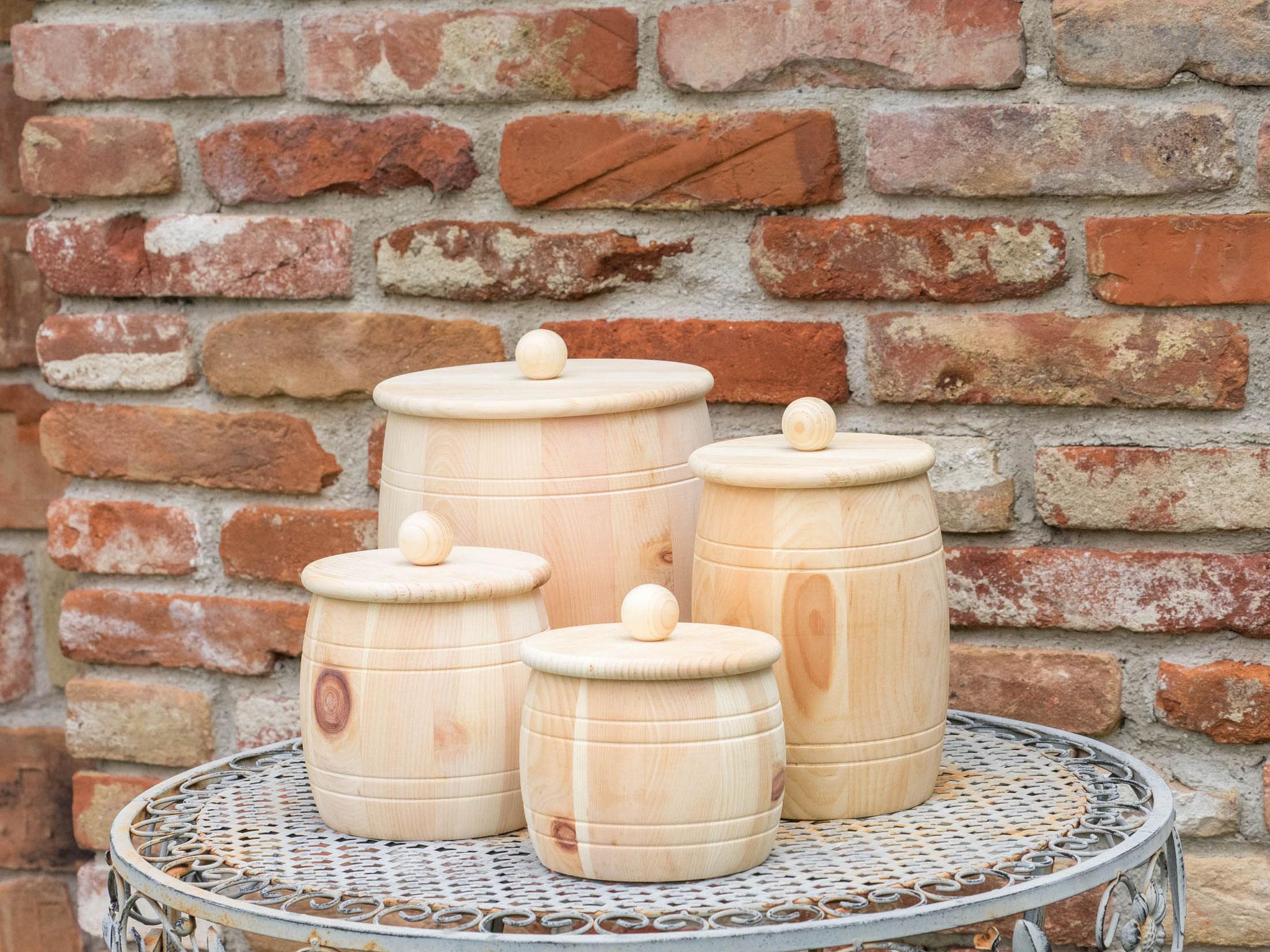 Vorratsdosen Zirbe mit Holzdeckel