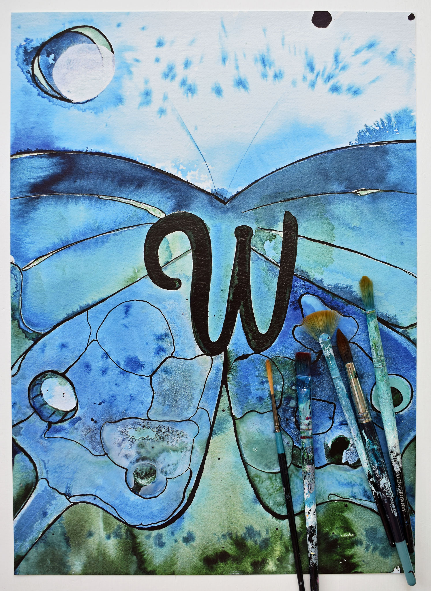 """W"" Nursery Collection Print DIN A3, € 39.-"
