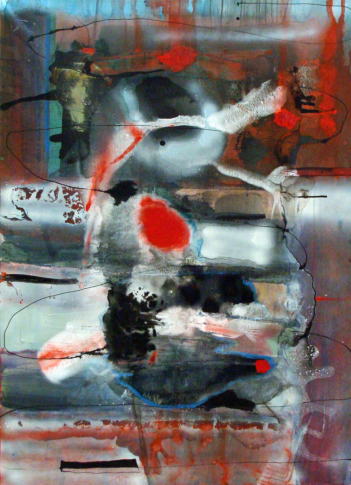 No Title, 2012, ink/acrylic/enamel on canvas, 110 x 80 cm, € 545,10 (€ 690.-)