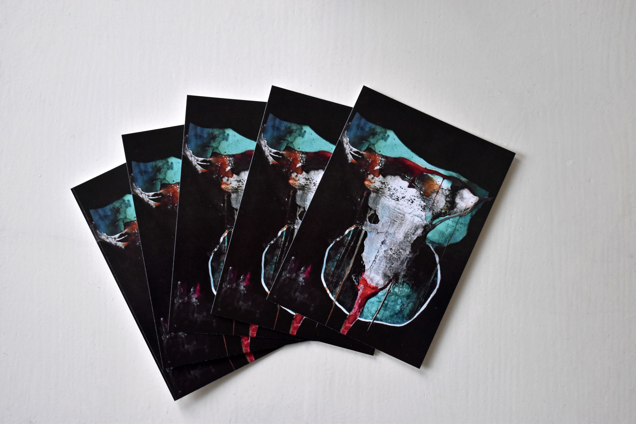 """Bull Skull"" Postcard (set of 5), €12,90"