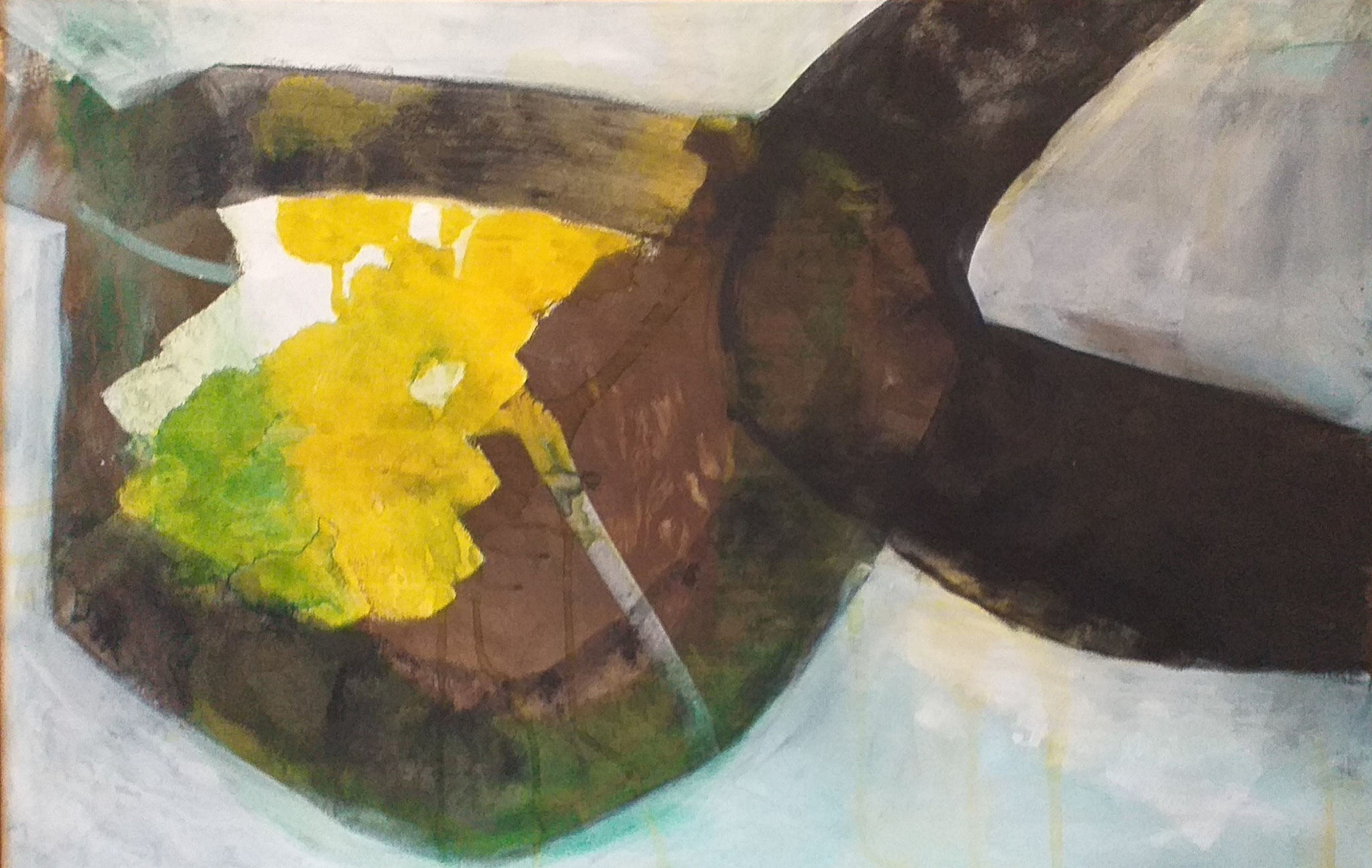 Acryl, ecoline op canvas 75x115 cm 2020 'Passage'