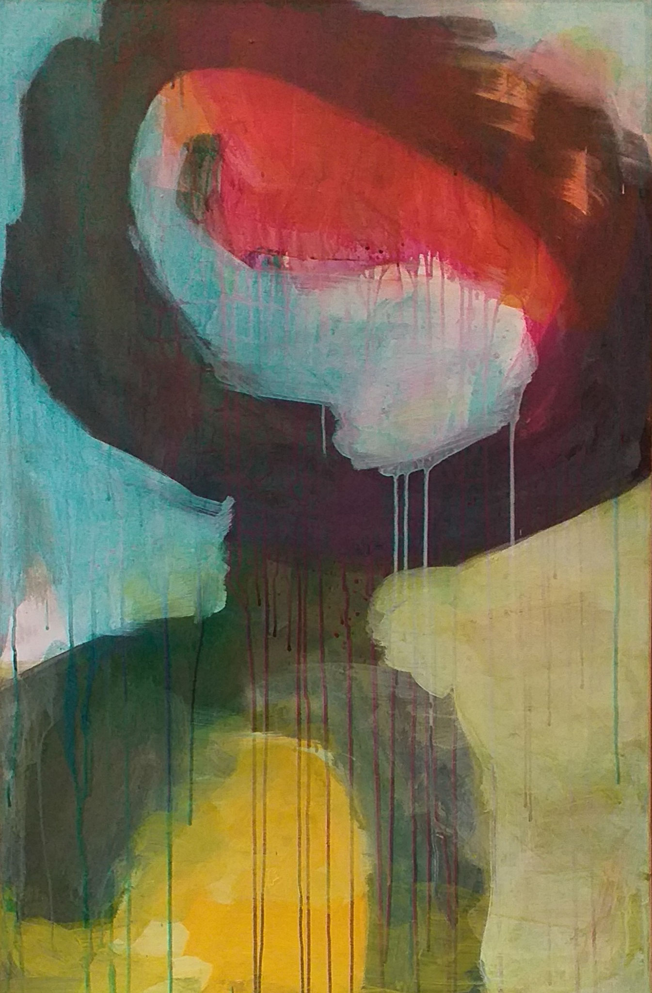 Acryl, ecoline op canvas  115x75 cm 2020 'Strength'
