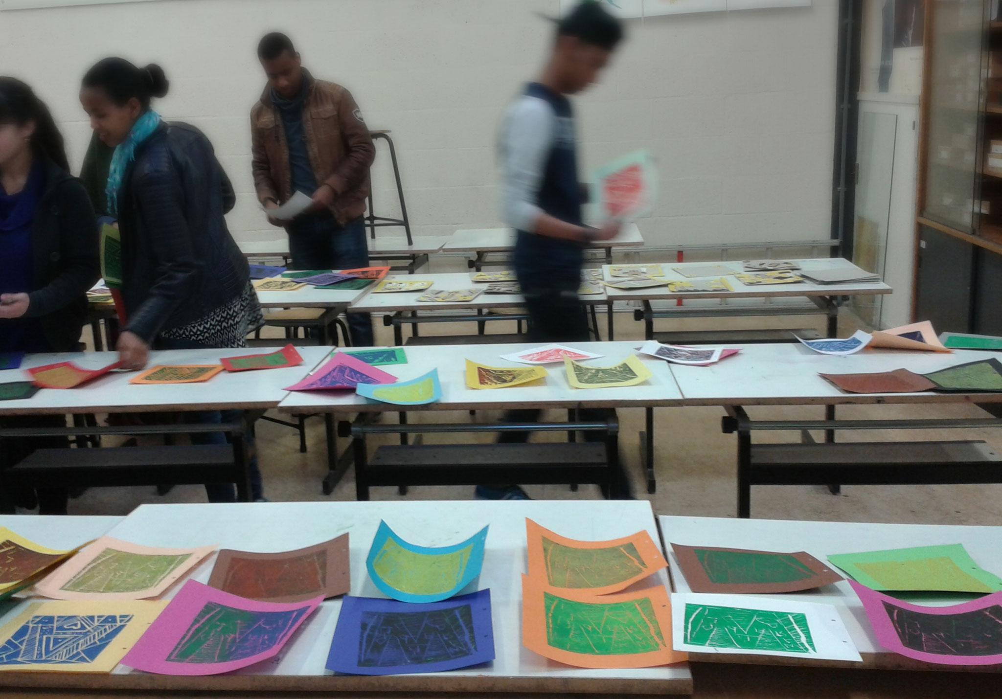 Carmelcollege Emmen Project 'Ode aan de lino' dec. 2016