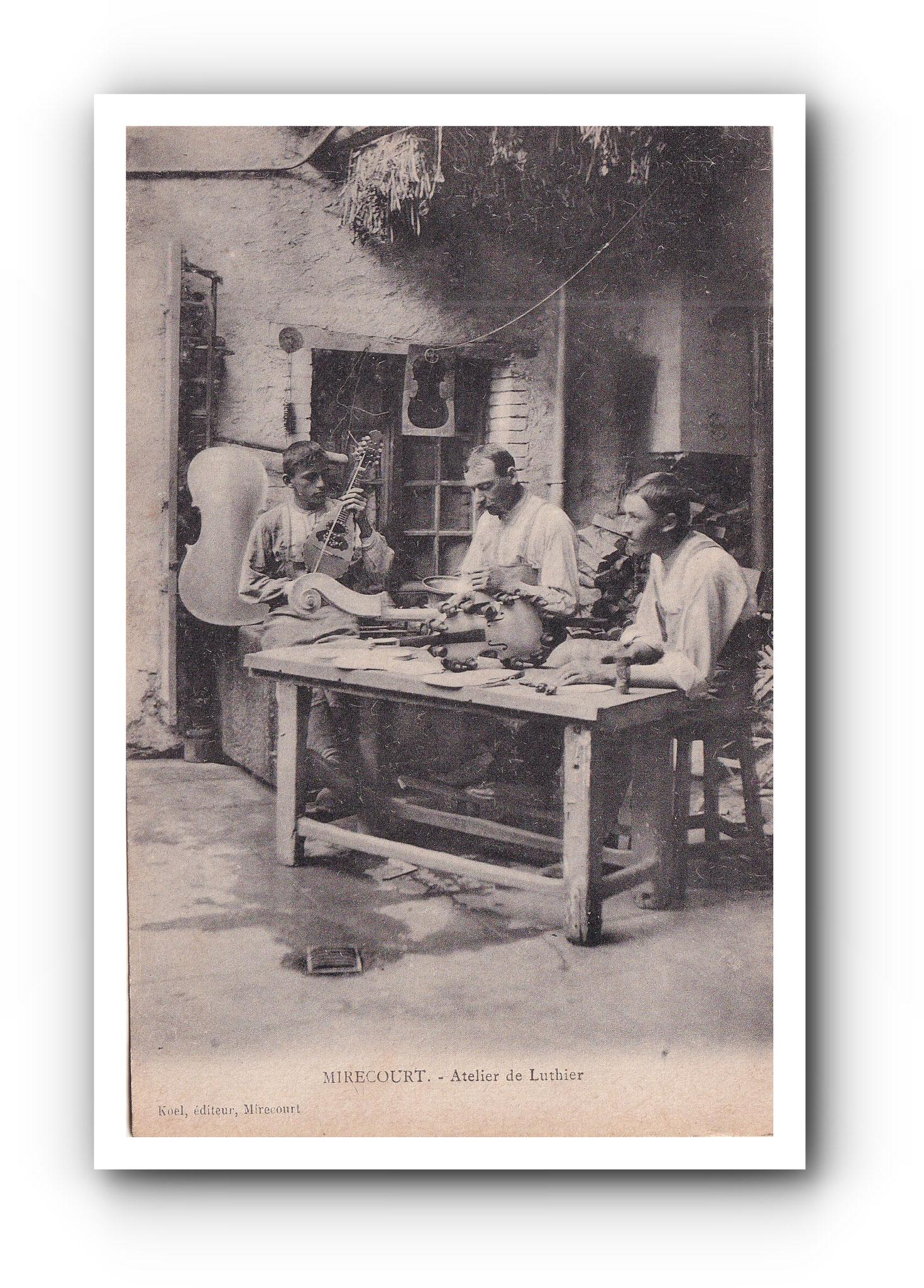 MIRECOURT -Atelier de Luthier - Werkstatt des Geigenbauers - Violin maker's workshop