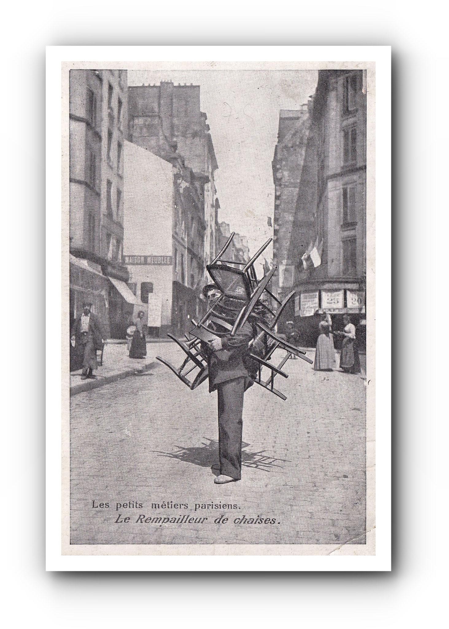 PARIS - Le rempailleur de chaises - Der Stuhlflechter - The chair remaker