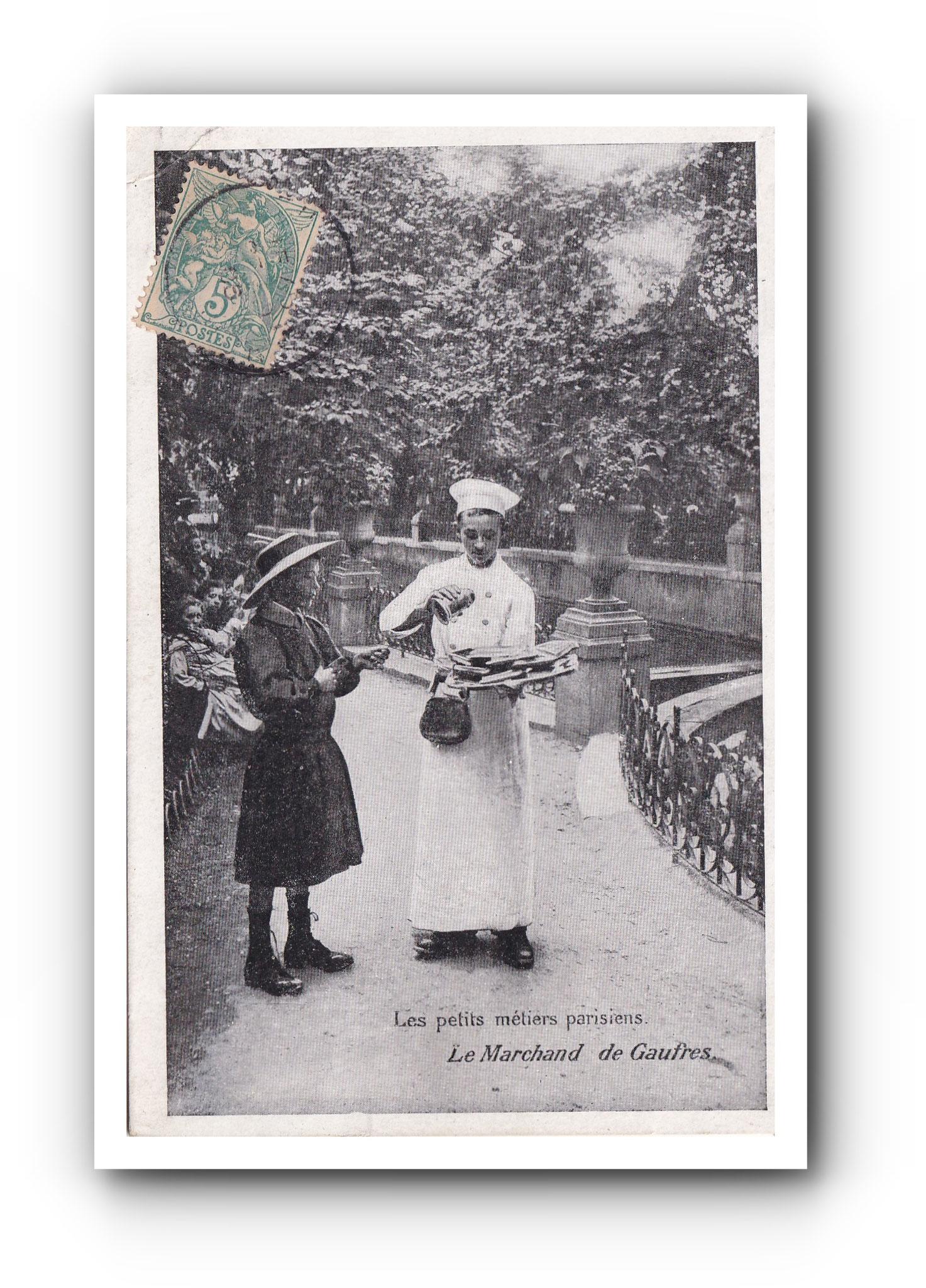 Le marchand de Gaufres - PARIS - 1904 - Der Waffelverkäufer - The wafer seller
