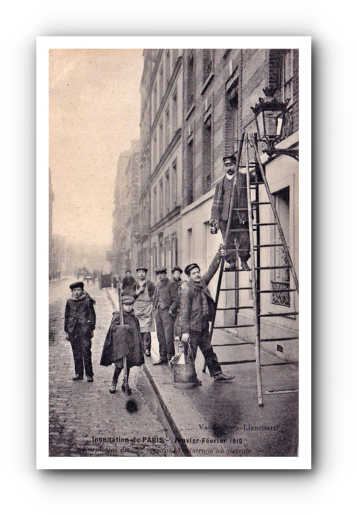 Inondation de PARIS - 1910 - Überschwemmung in Paris - Flood in Paris