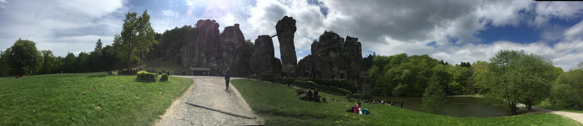Externsteine, sandstone rock formation north of Germany (May 2018)