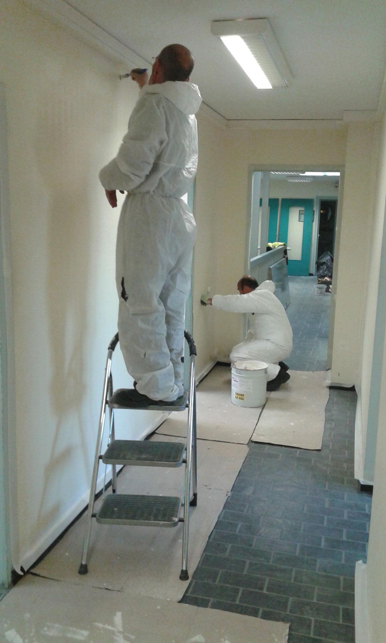 Préparation de murs et peinture