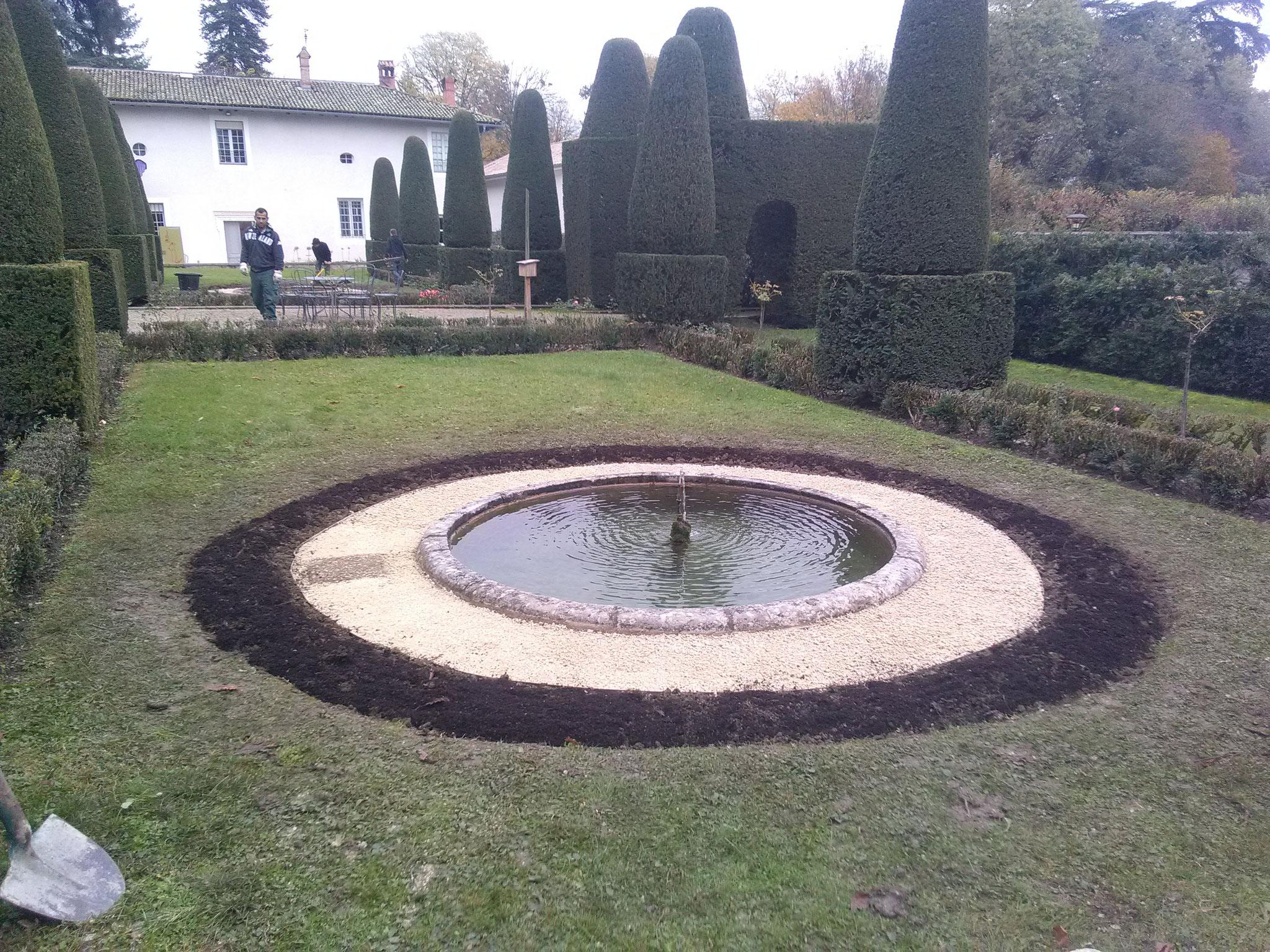 Musée Hébert : Fontaine après rafraîchissement
