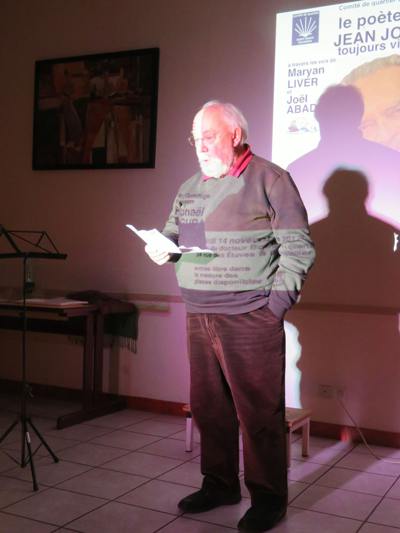 René Escudié - Comité de quartier st Roch-Ecusson - soirée Jean Joubert - 14 11 2017- photo D. Ferré