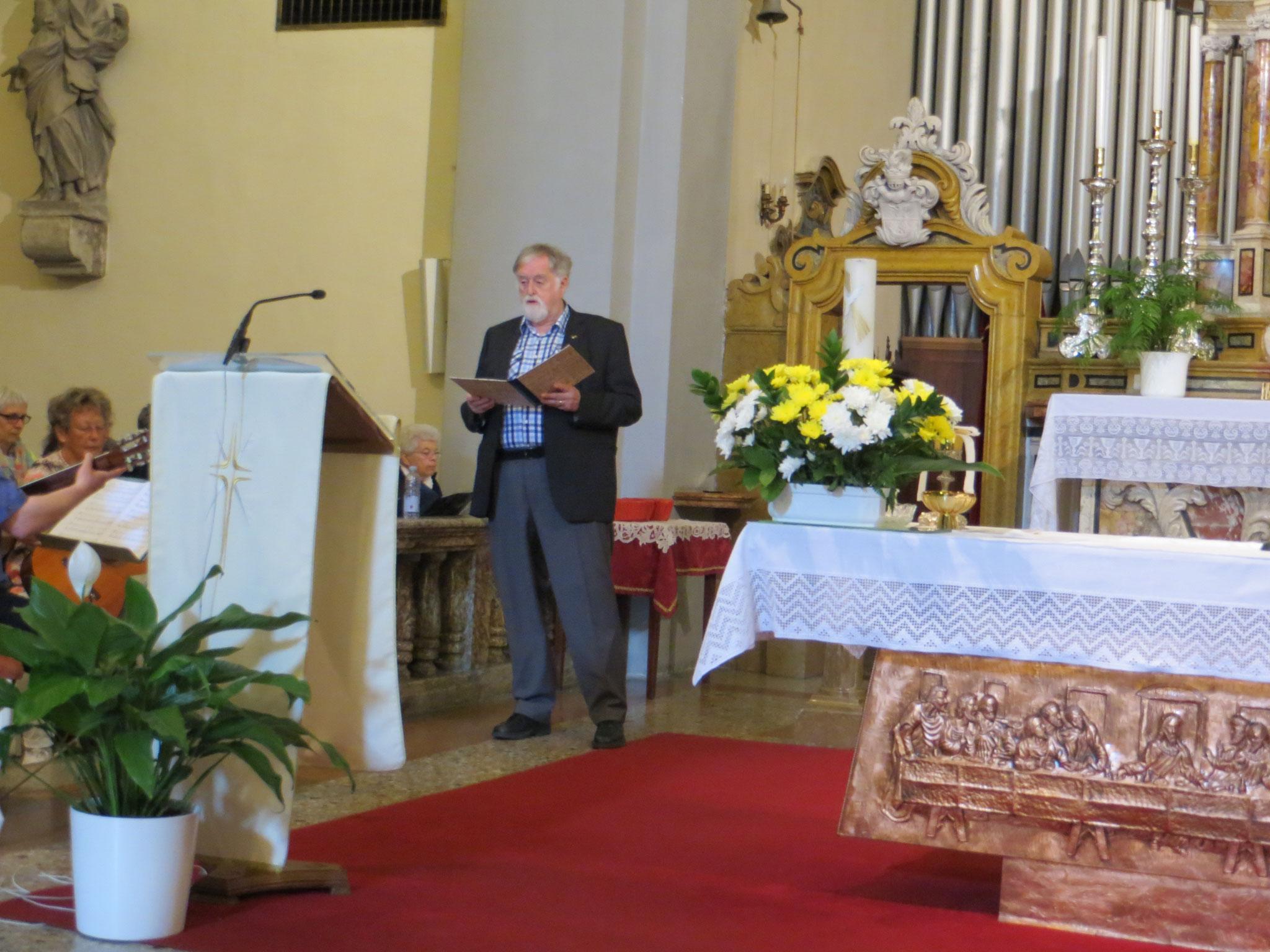 Solo: Panis Angelicus - Solist: Günther Weingärtner