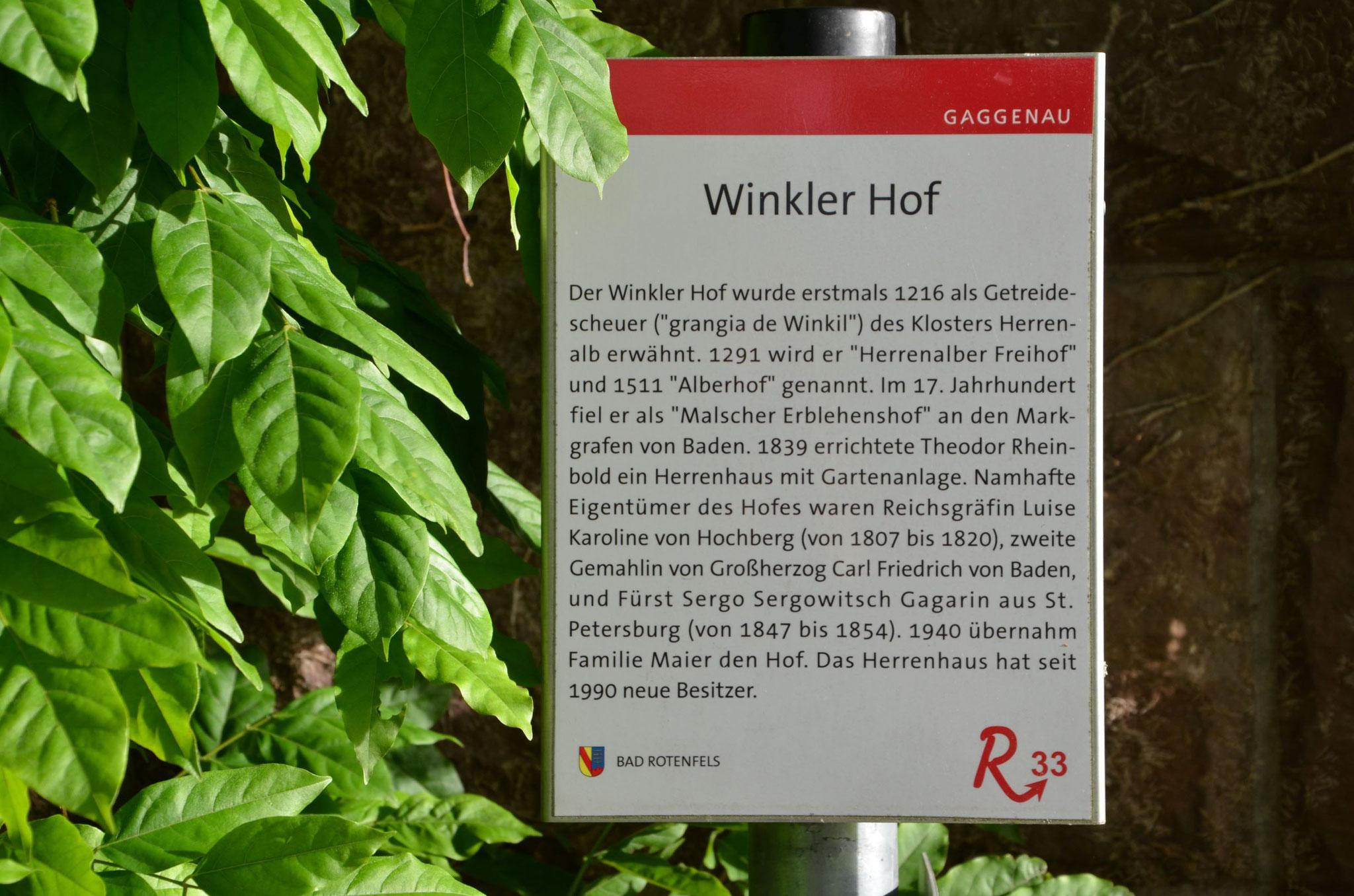 Geschichte des Winklerhofs
