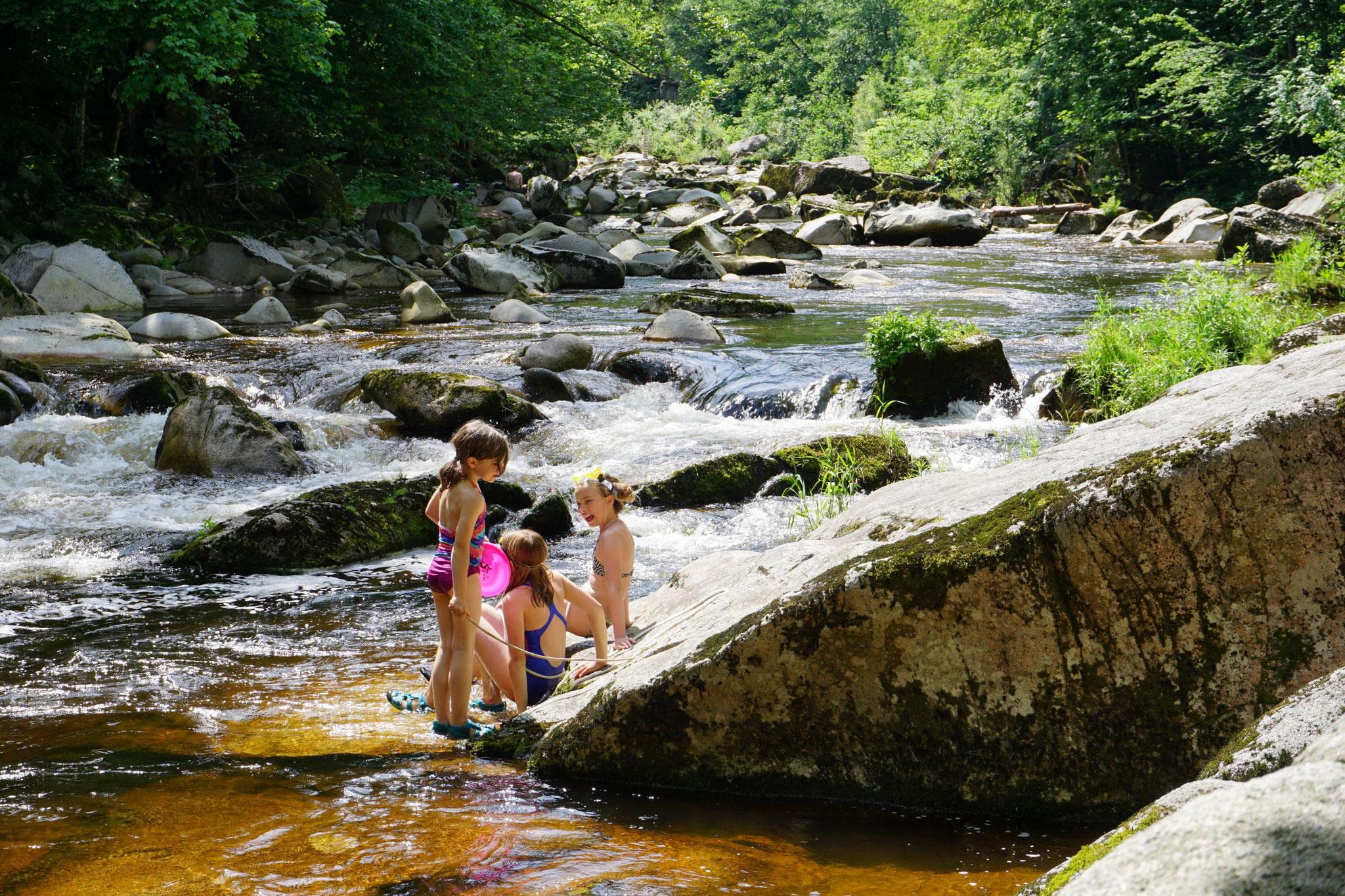 Im Flussbett der Murg bei Forbach