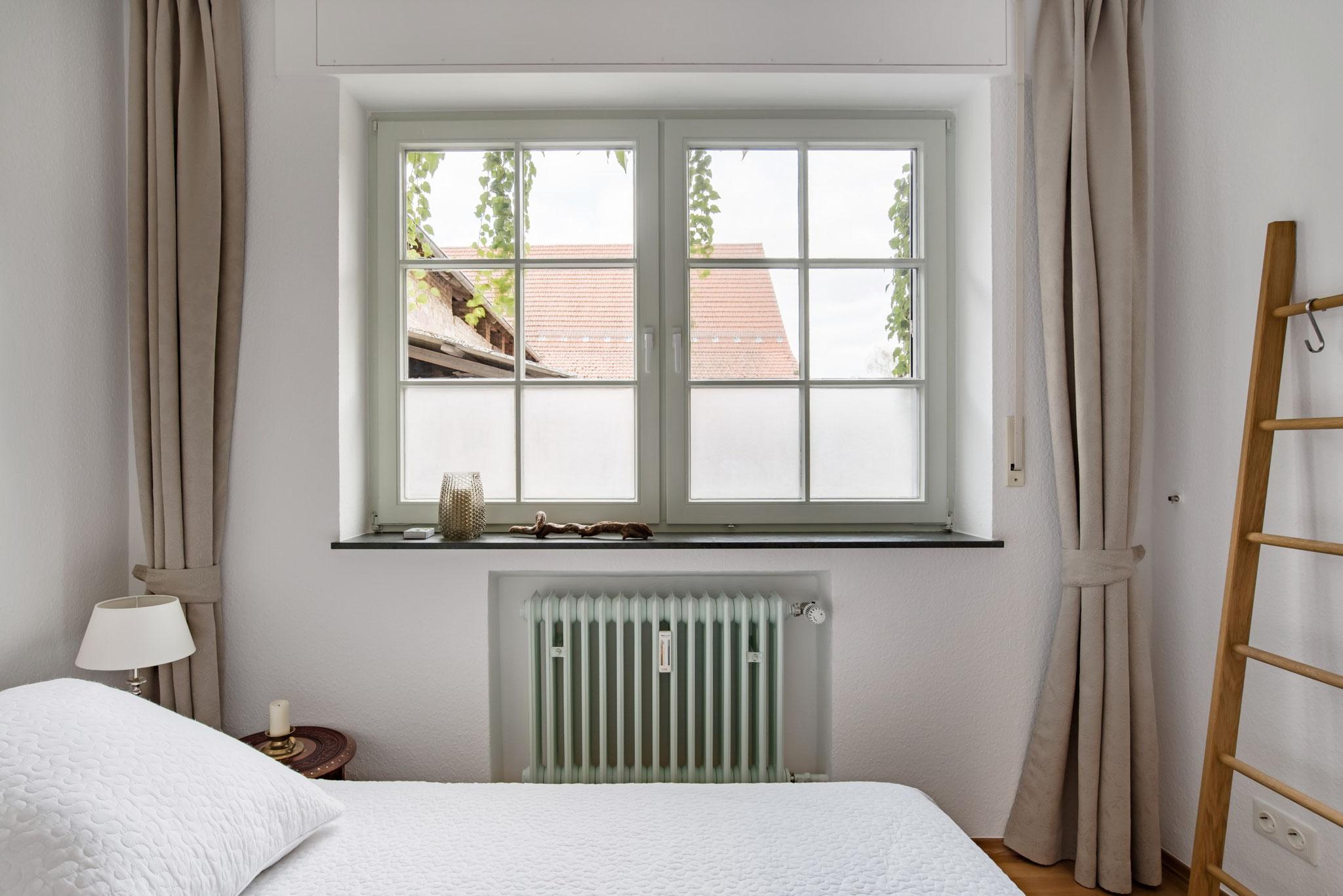 Blick aus dem Schlafzimmer