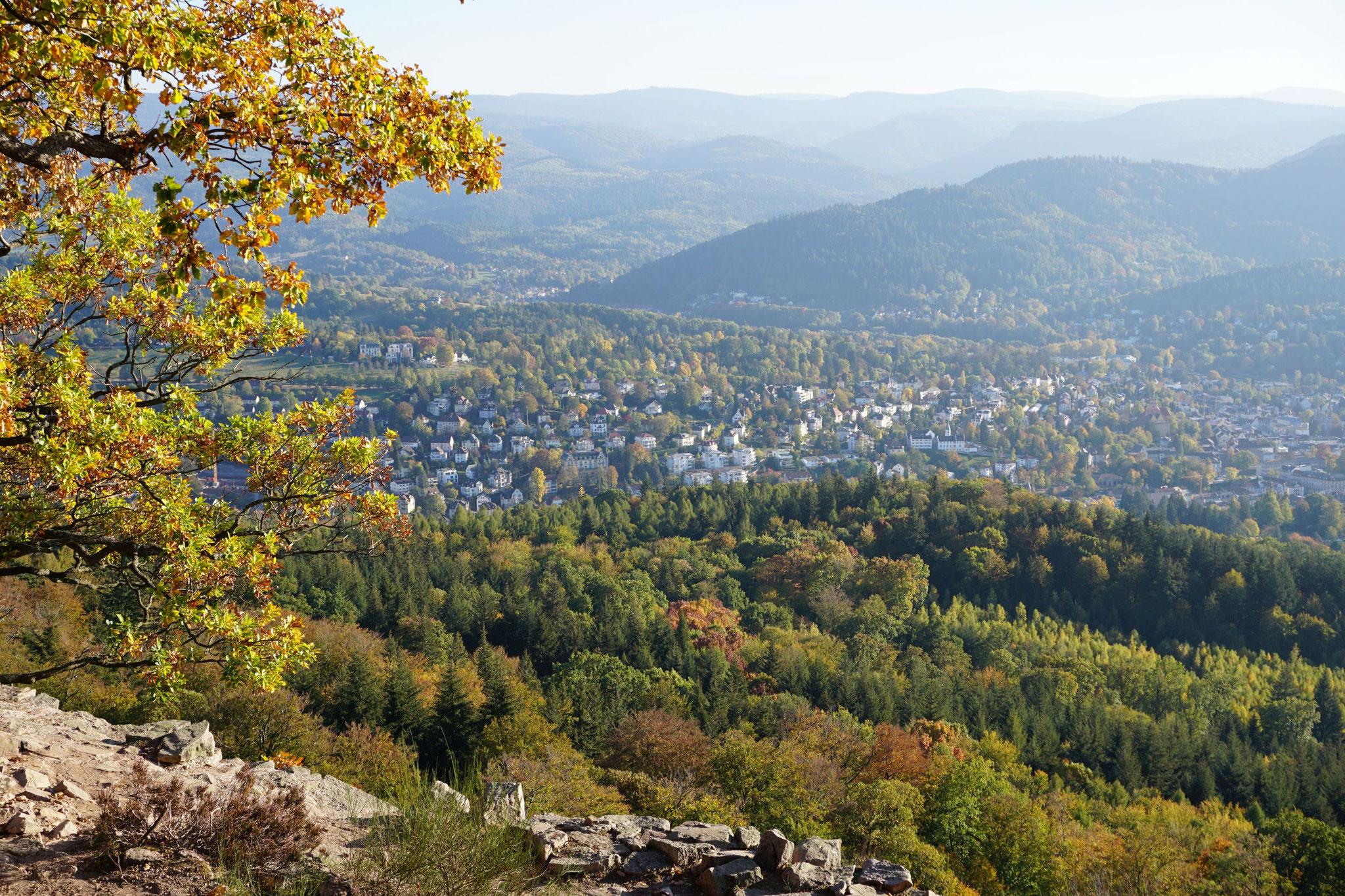 Blick vom Battert auf Baden-Baden