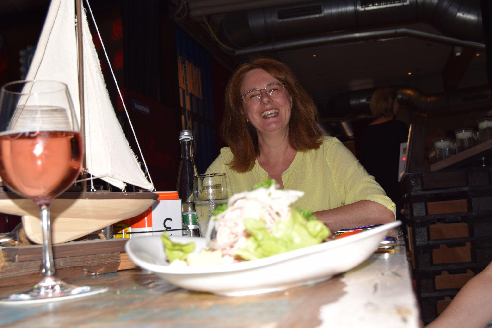 07-16 vor unserem Wasserseminar: Abendessen im Rantastic, Haueneberstein