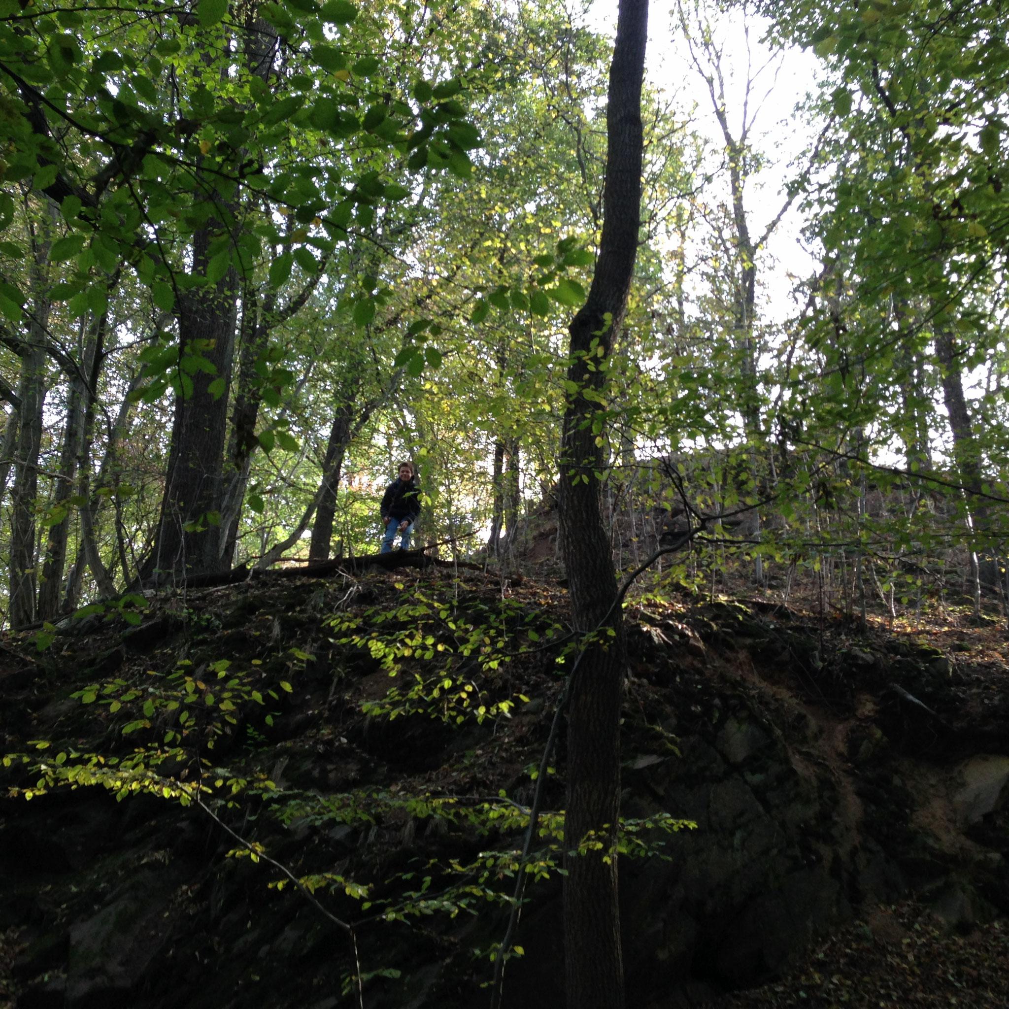 Max am steilen Hang
