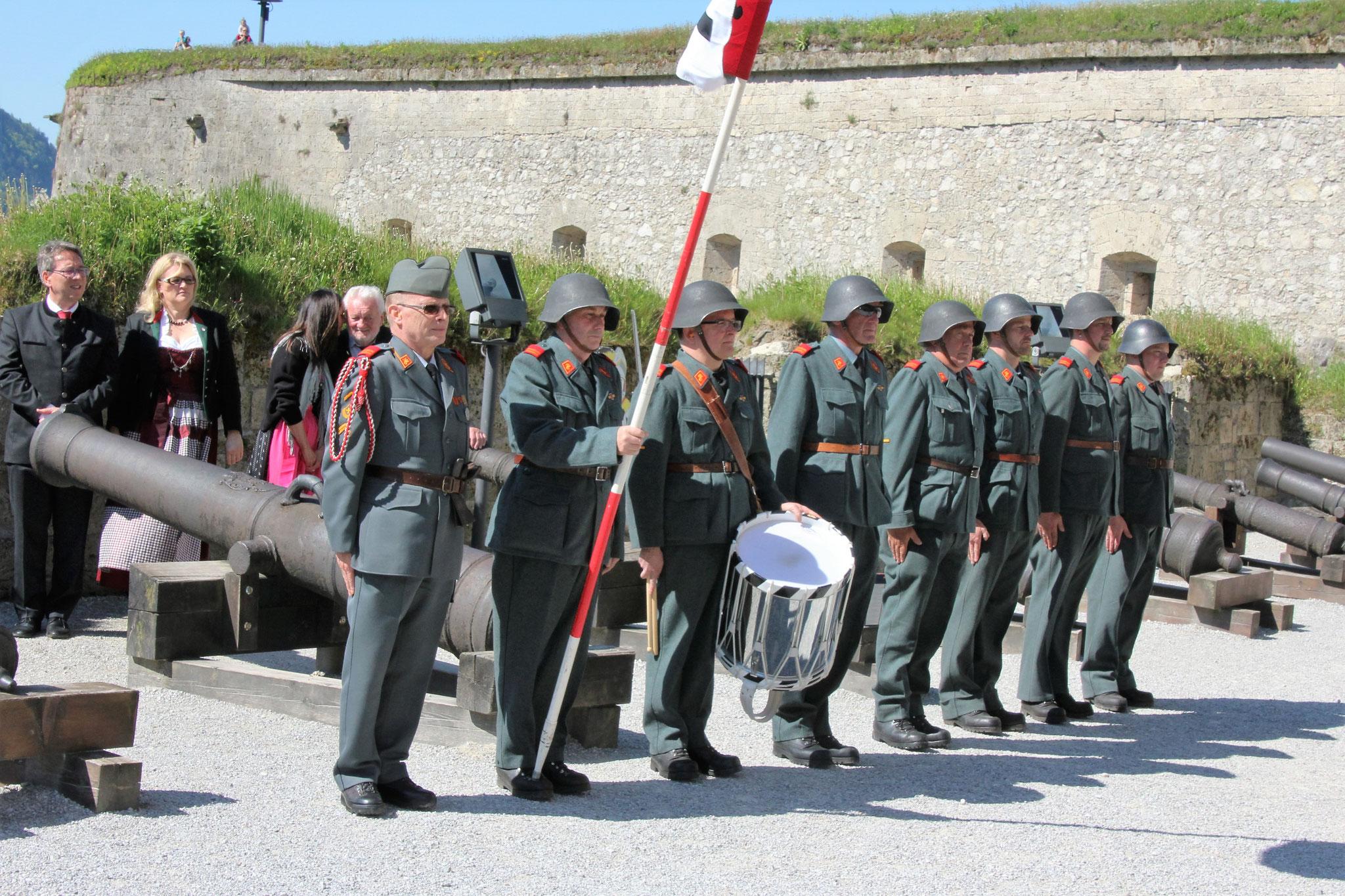 Die Frauenfelder Mannschft wartet auf den Einsatz Inspektion in Kufstein