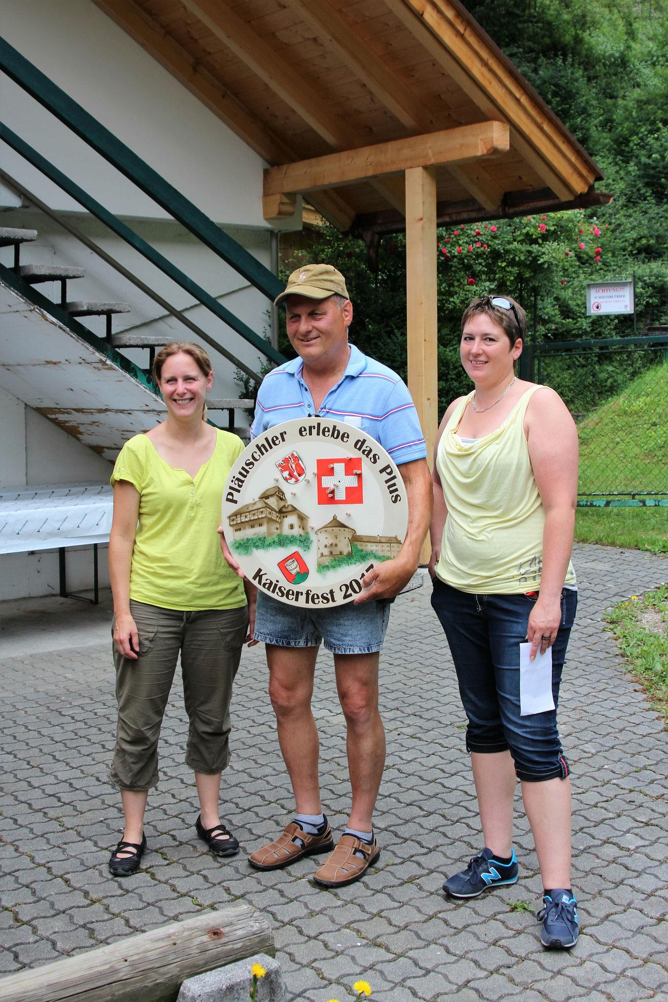 3.Sabine, 1.Hansjörg, 2.Andrea