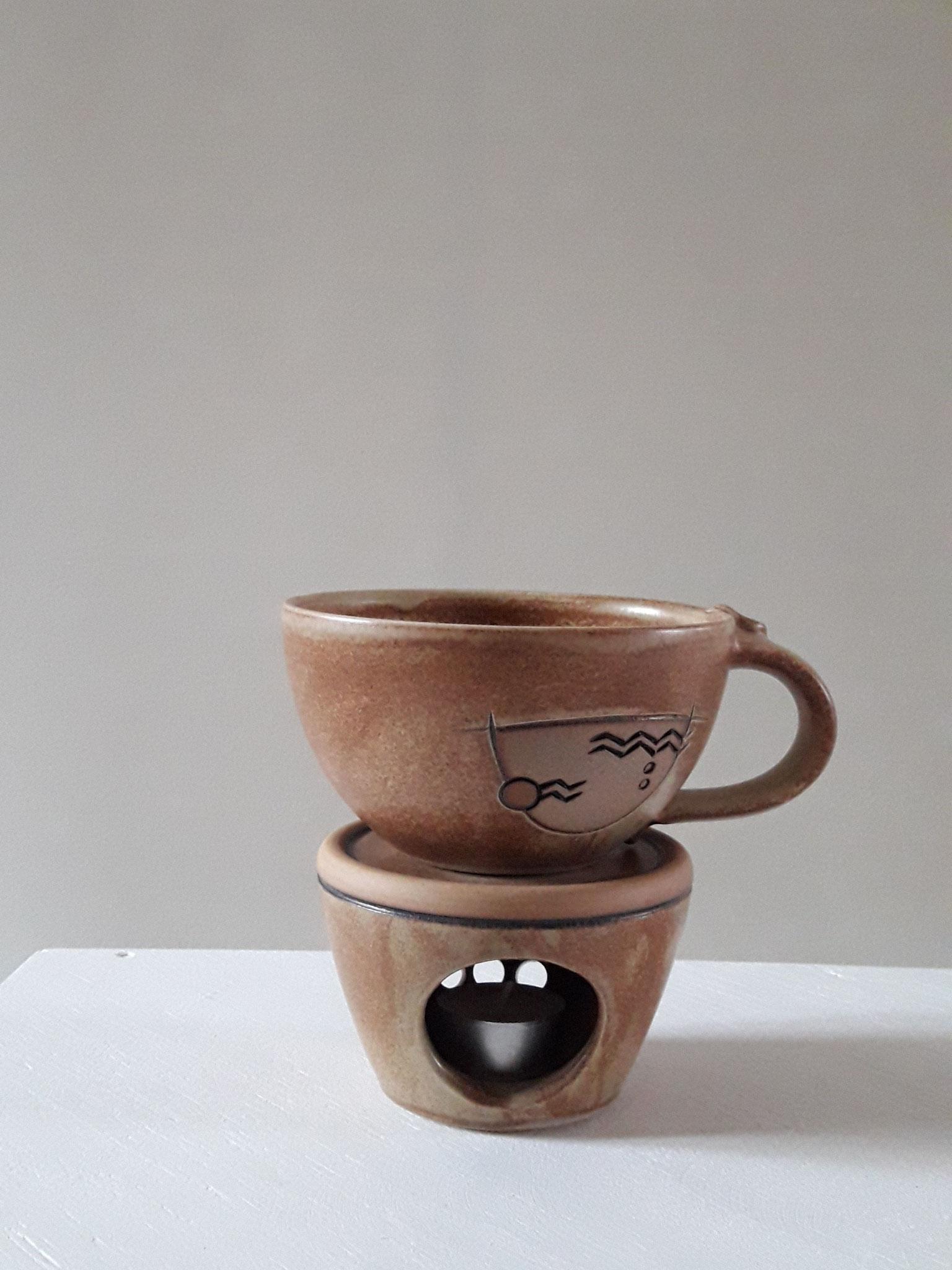Caffee au lait - Tasse, beige, 500 ml