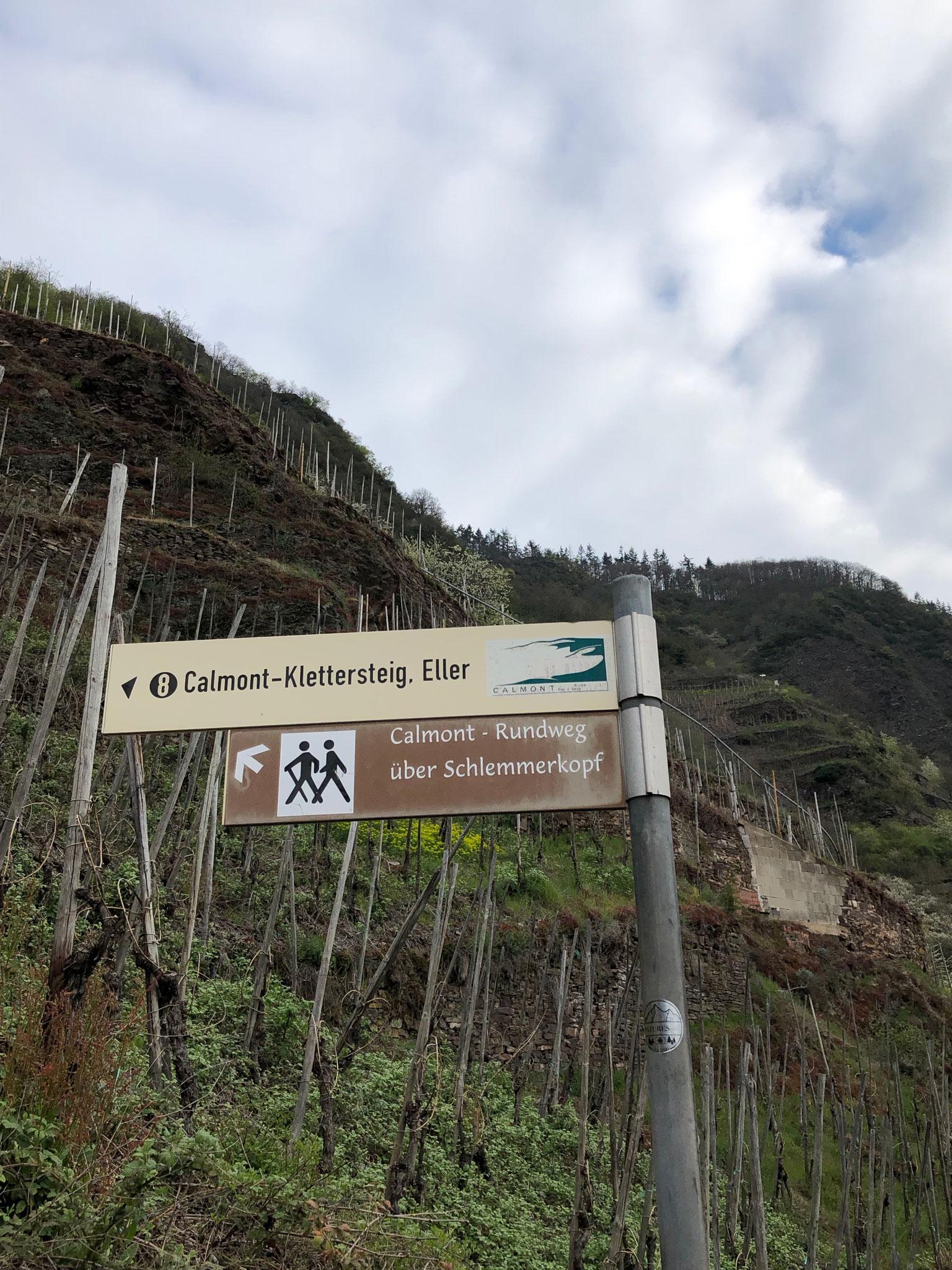 Weg zum Calmonter Klettersteig