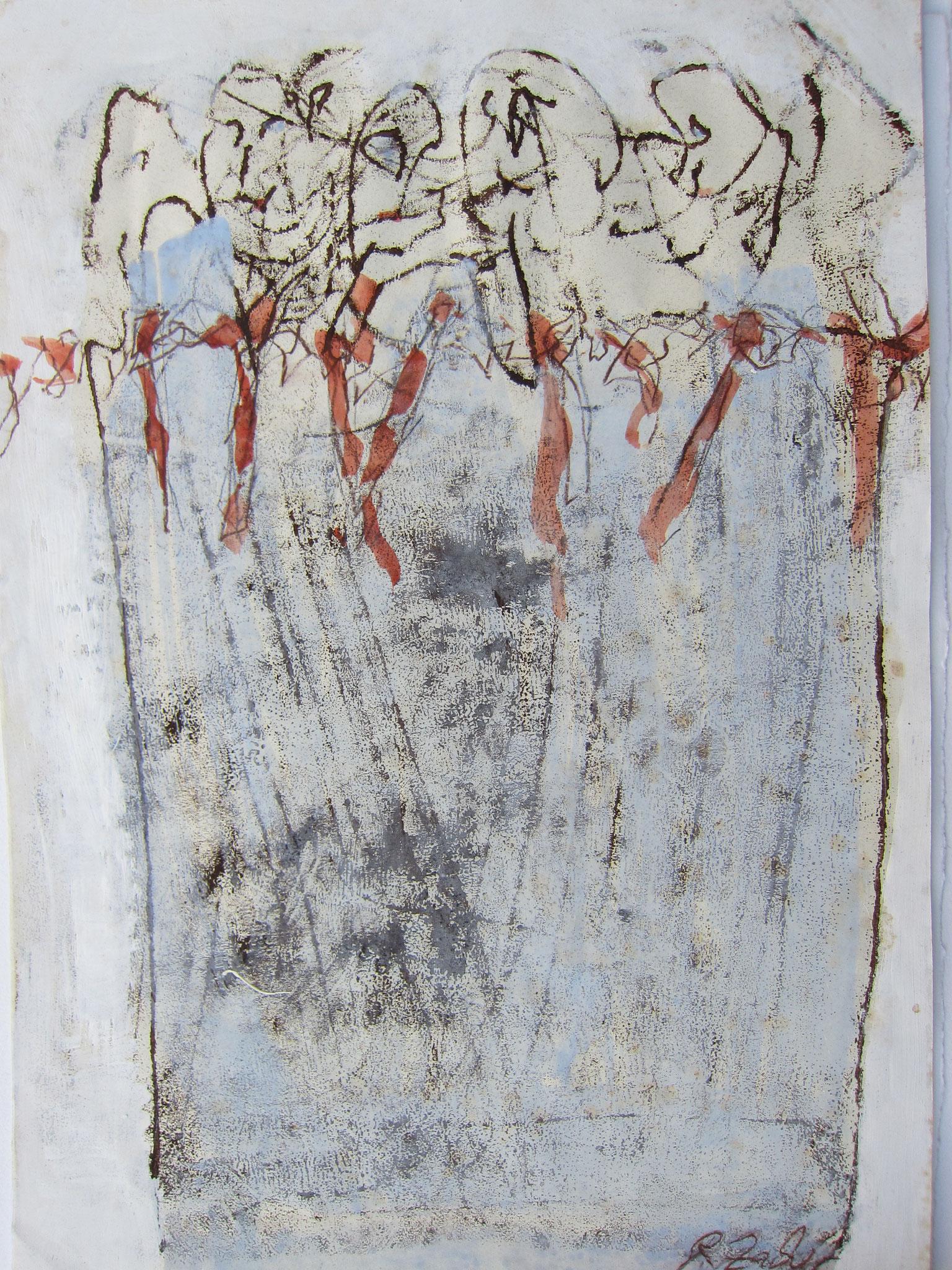 Brainstorming, Acryl/Papier, 40 x 30 cm