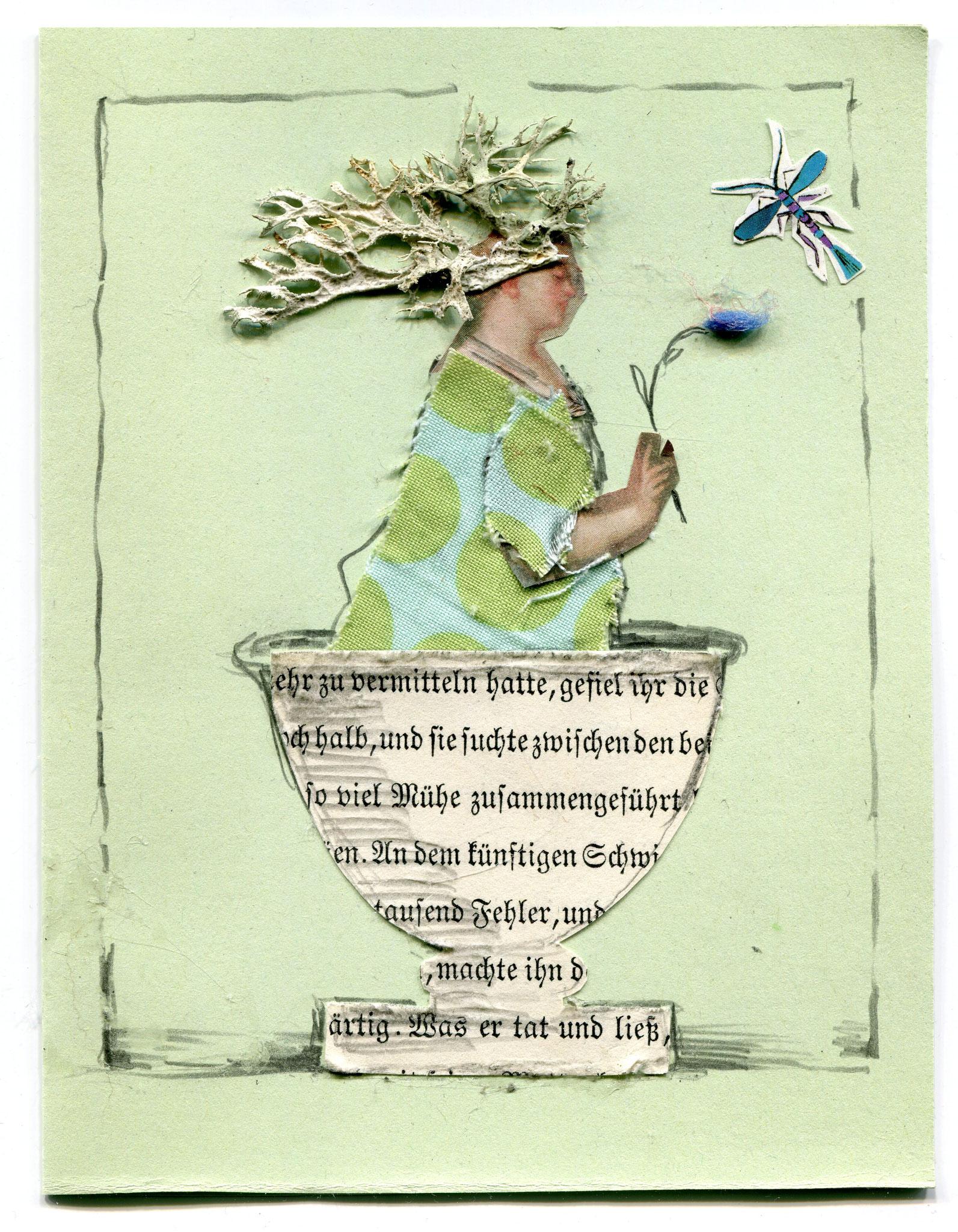 Über flüssige Worte IV, Collage